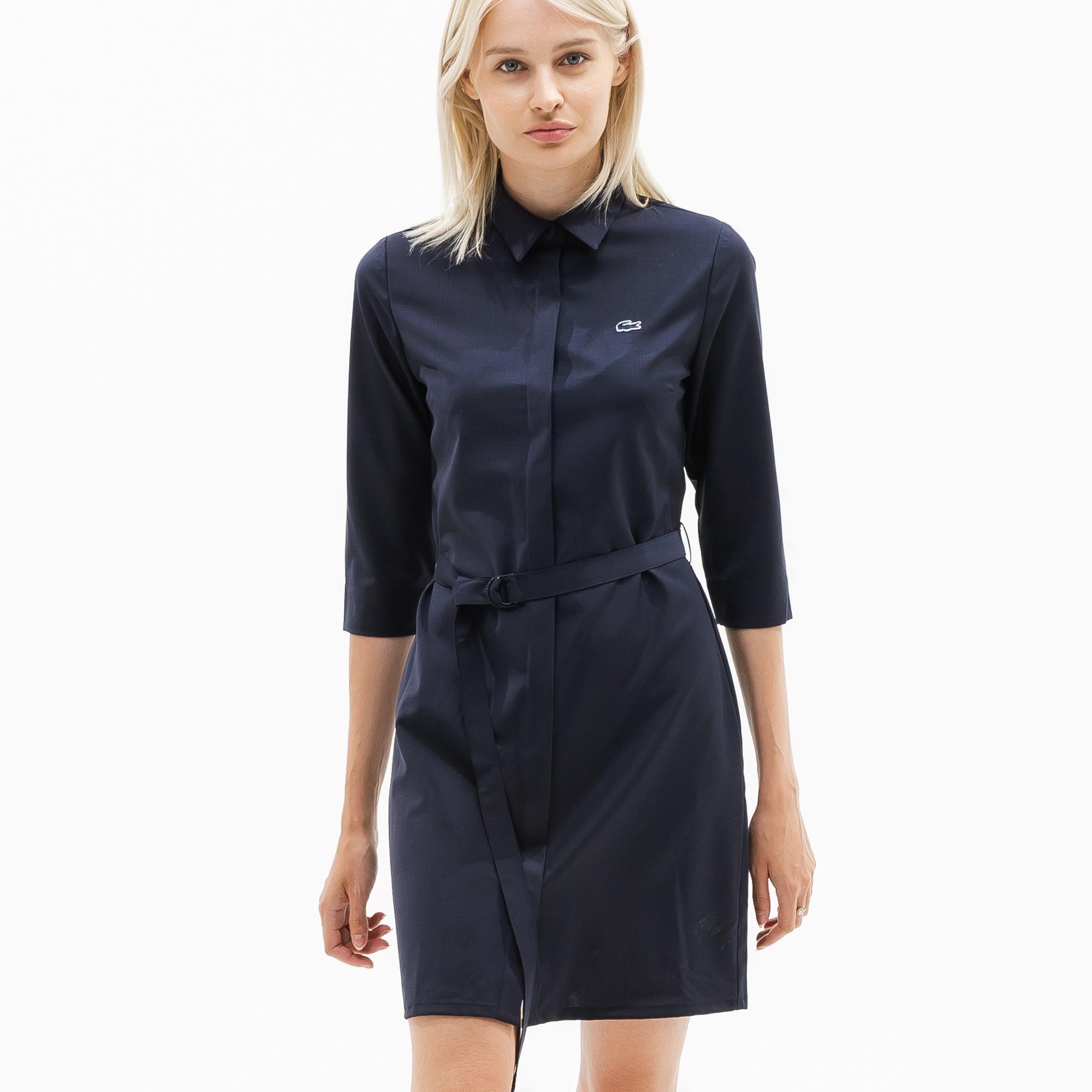 женская юбка lacoste, синяя
