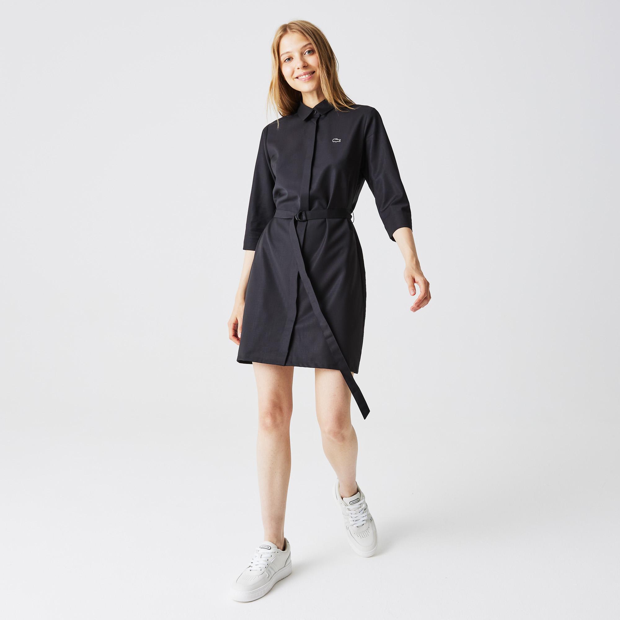 женское платье lacoste, черное