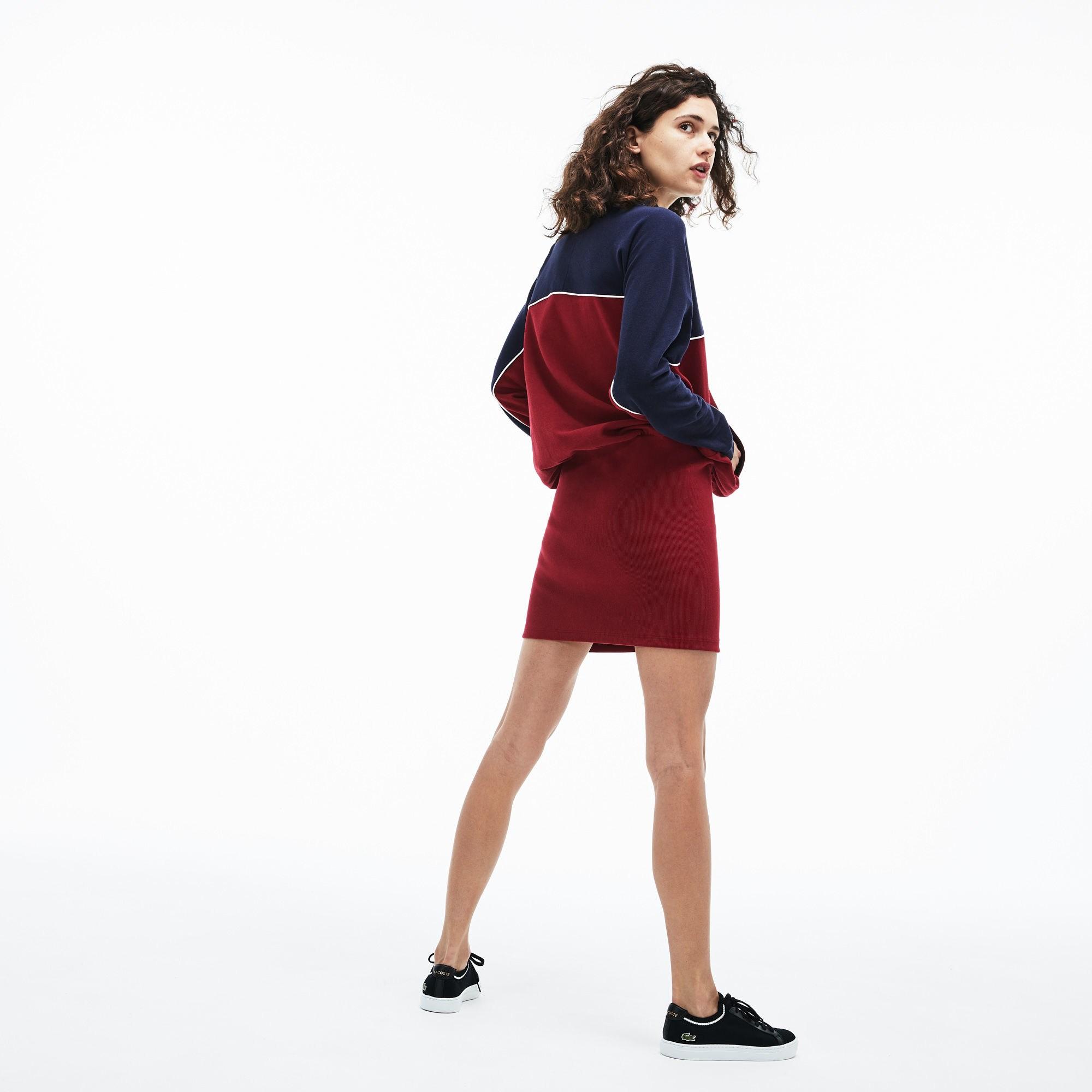 Фото 3 - Женское платье Lacoste красного цвета