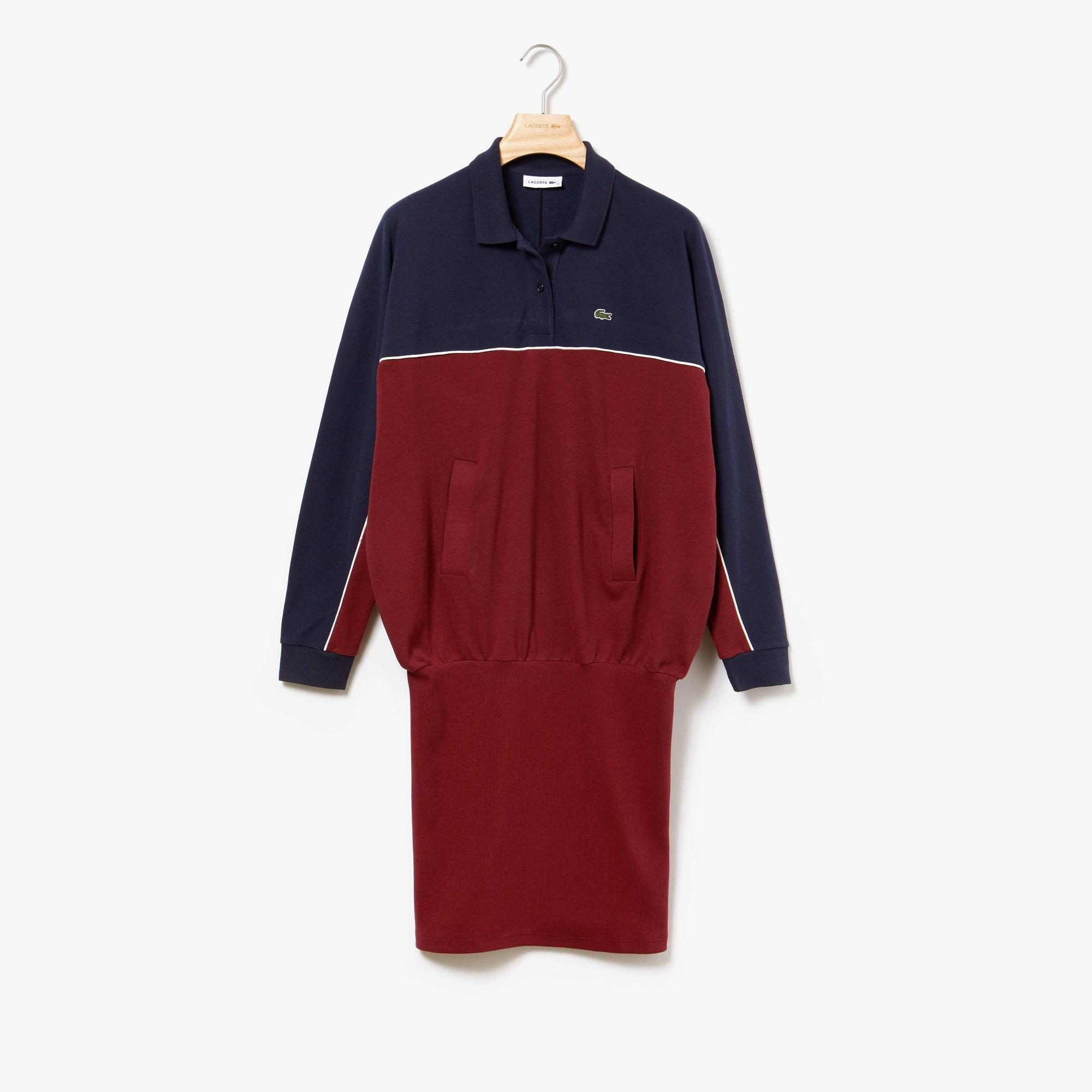 Фото 5 - Женское платье Lacoste красного цвета