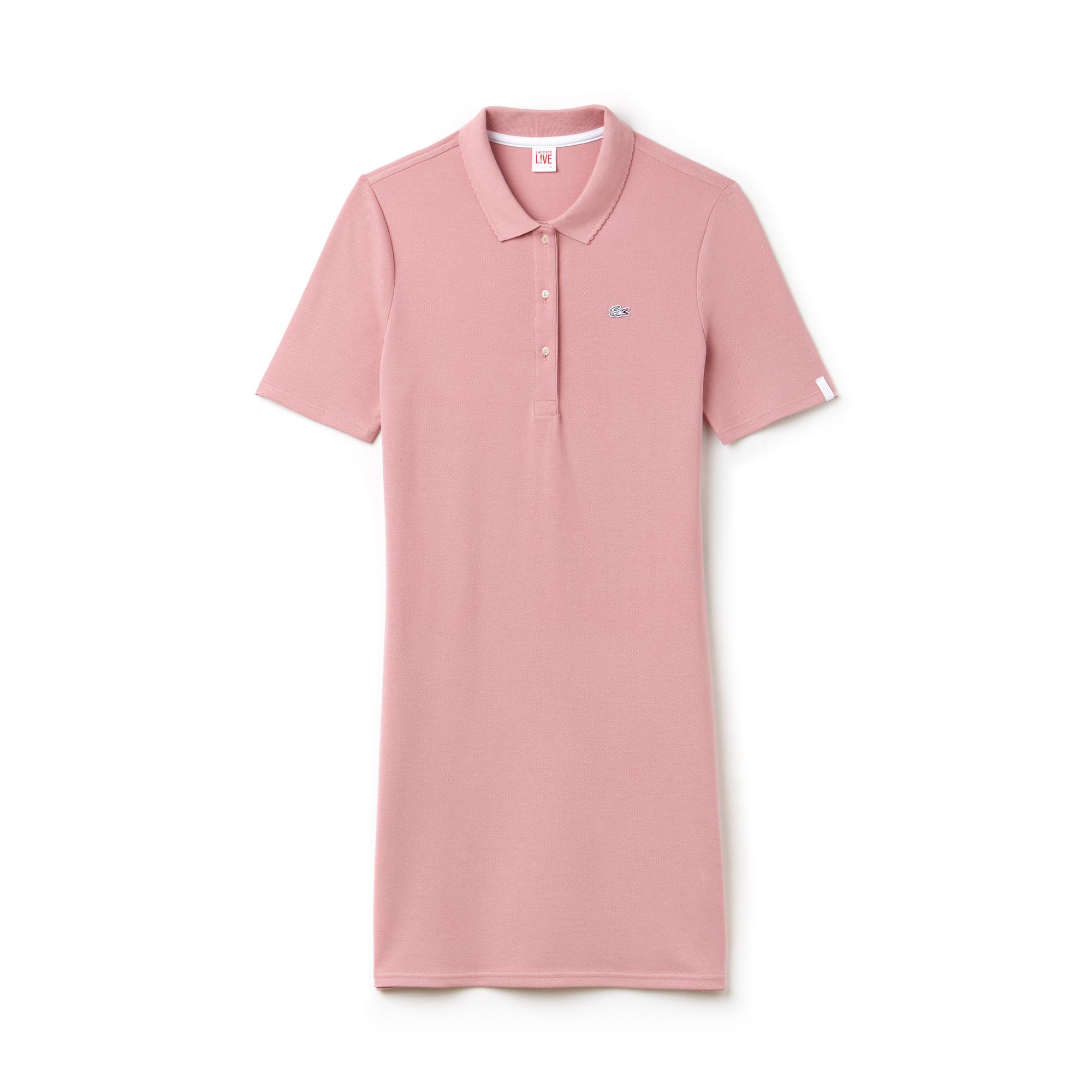 Фото 3 - Женское платье Lacoste розового цвета
