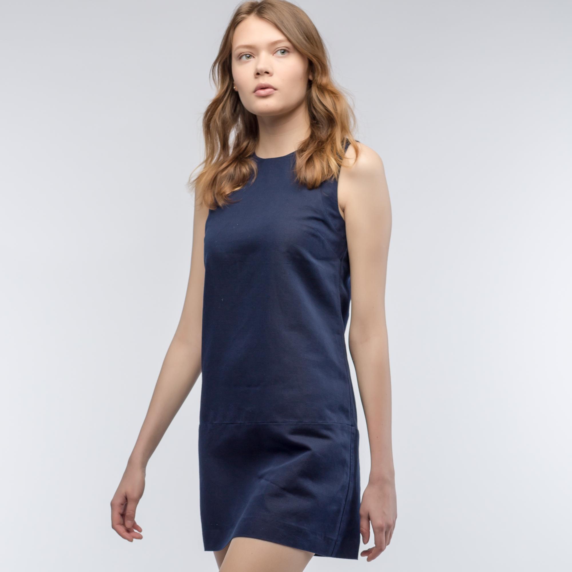 Платье  темно-синий цвета