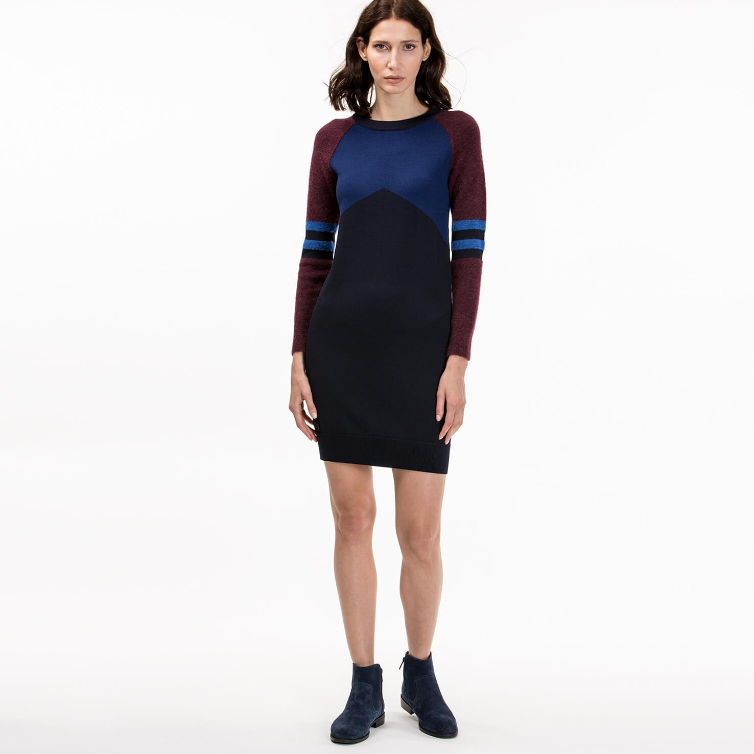 женское платье lacoste, синее