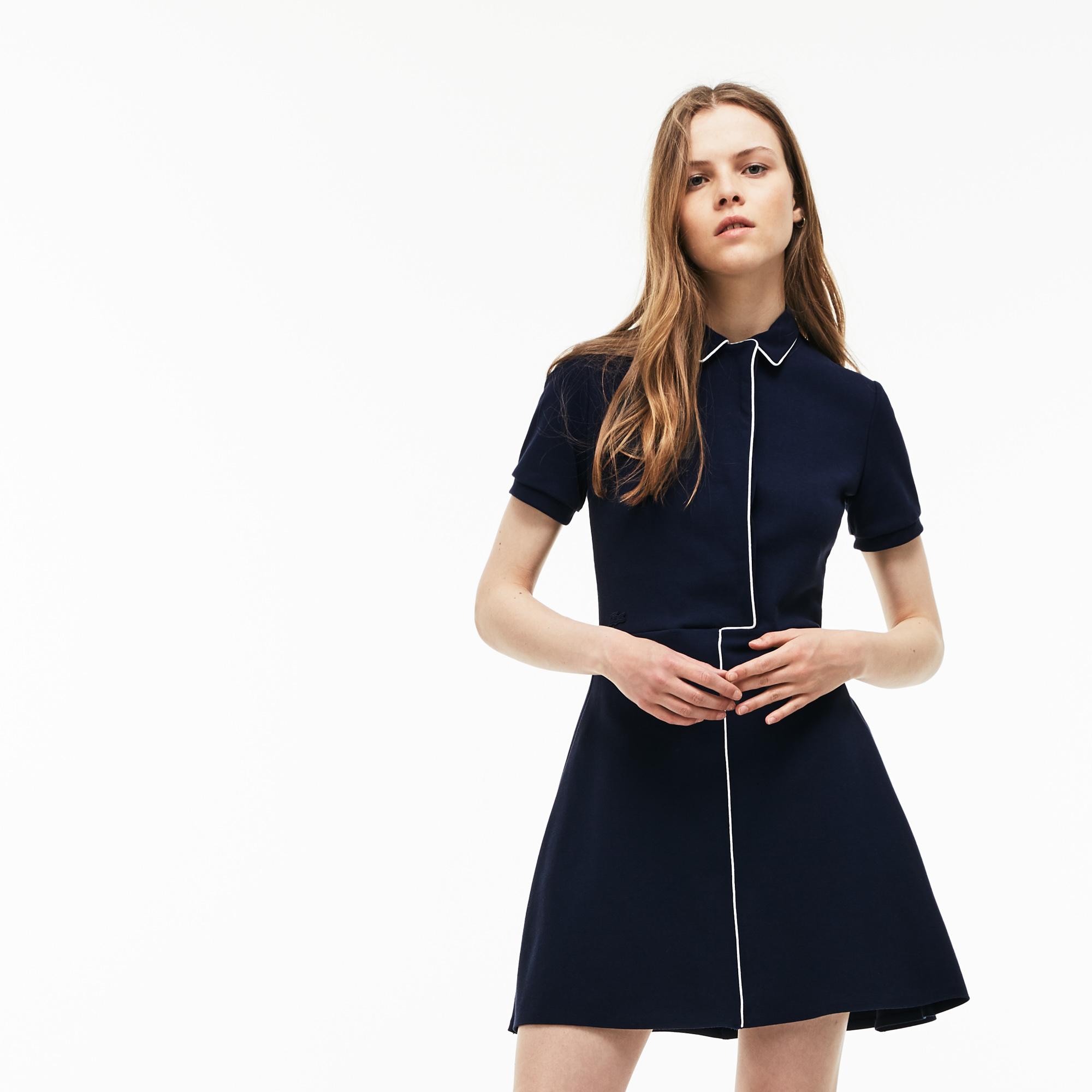 Фото 4 - Женское платье Lacoste темно-синего цвета