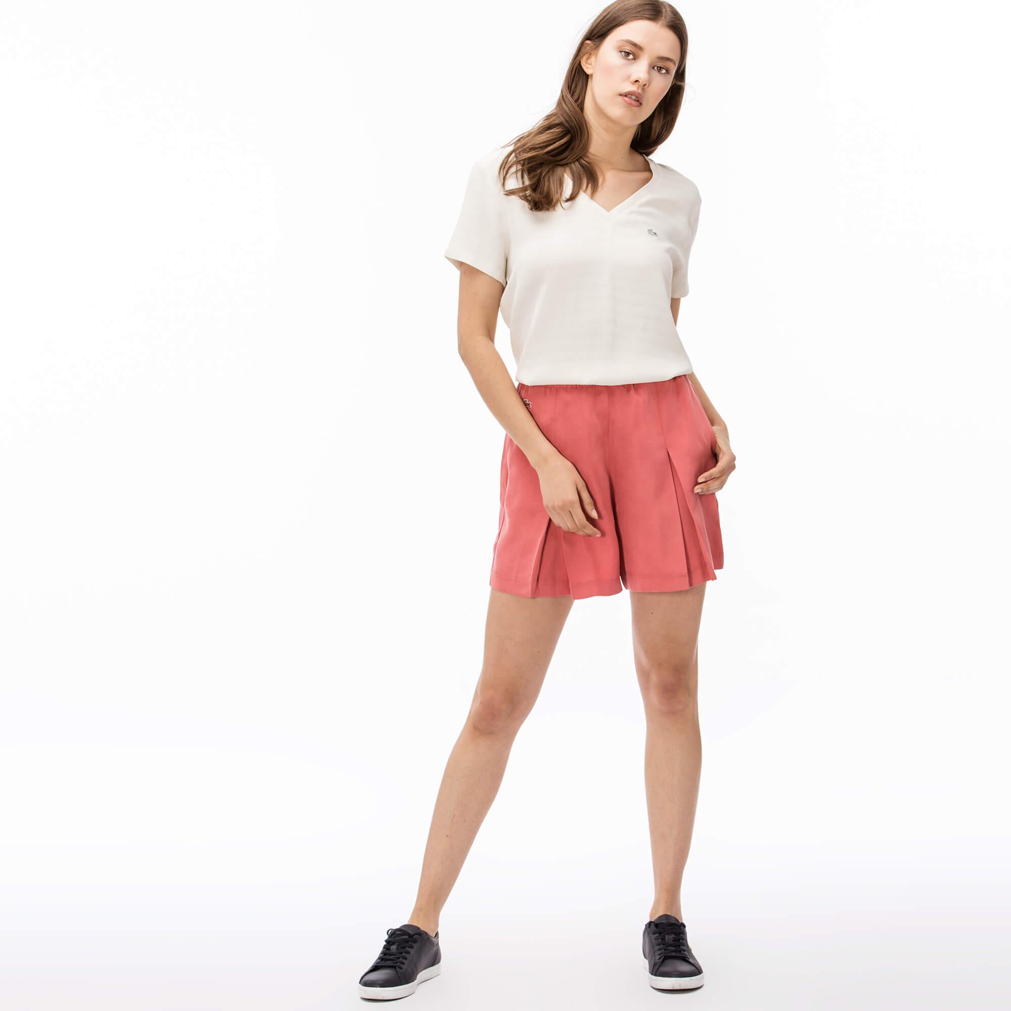 женские шорты lacoste, розовые
