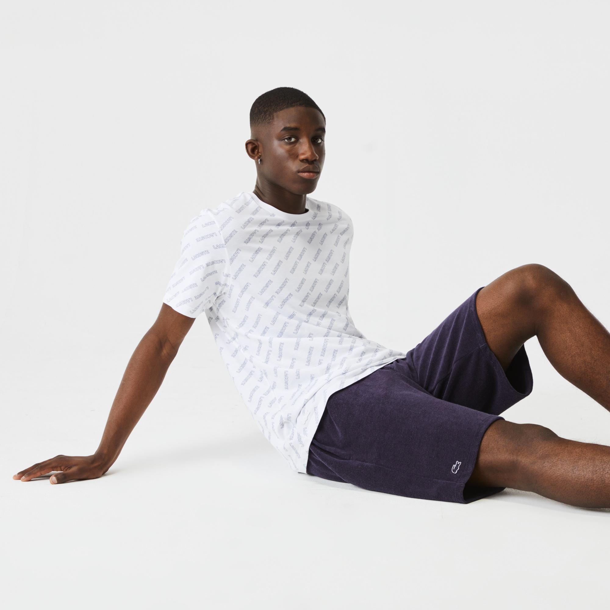 мужские шорты lacoste, фиолетовые