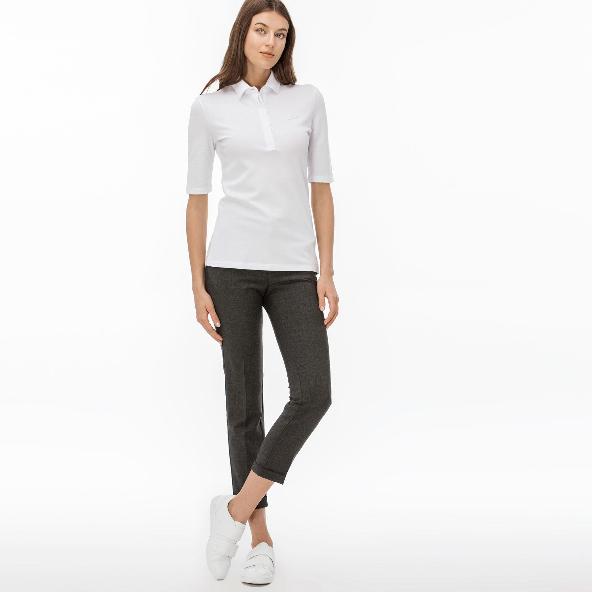 женские брюки lacoste, серые
