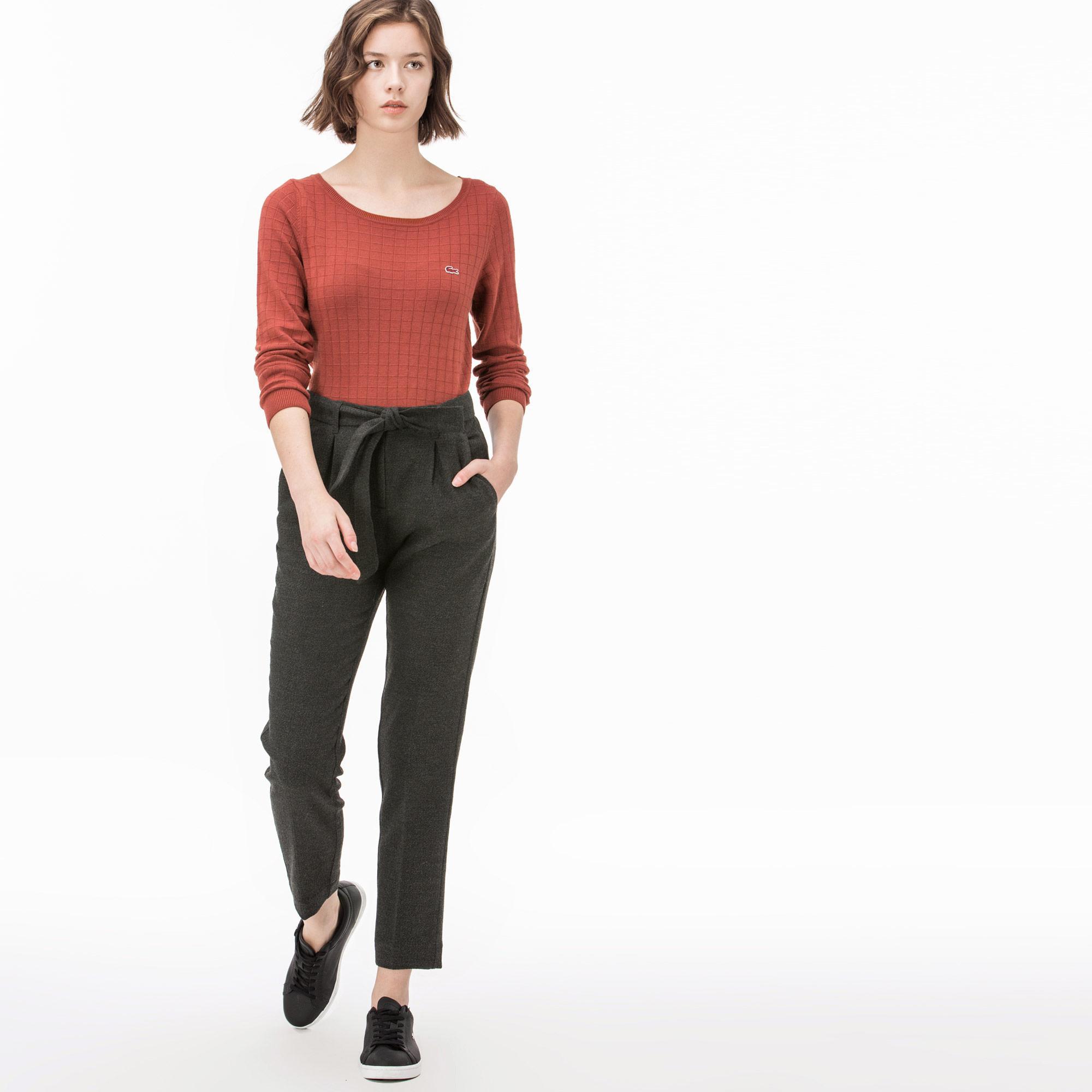 женские брюки lacoste, коричневые