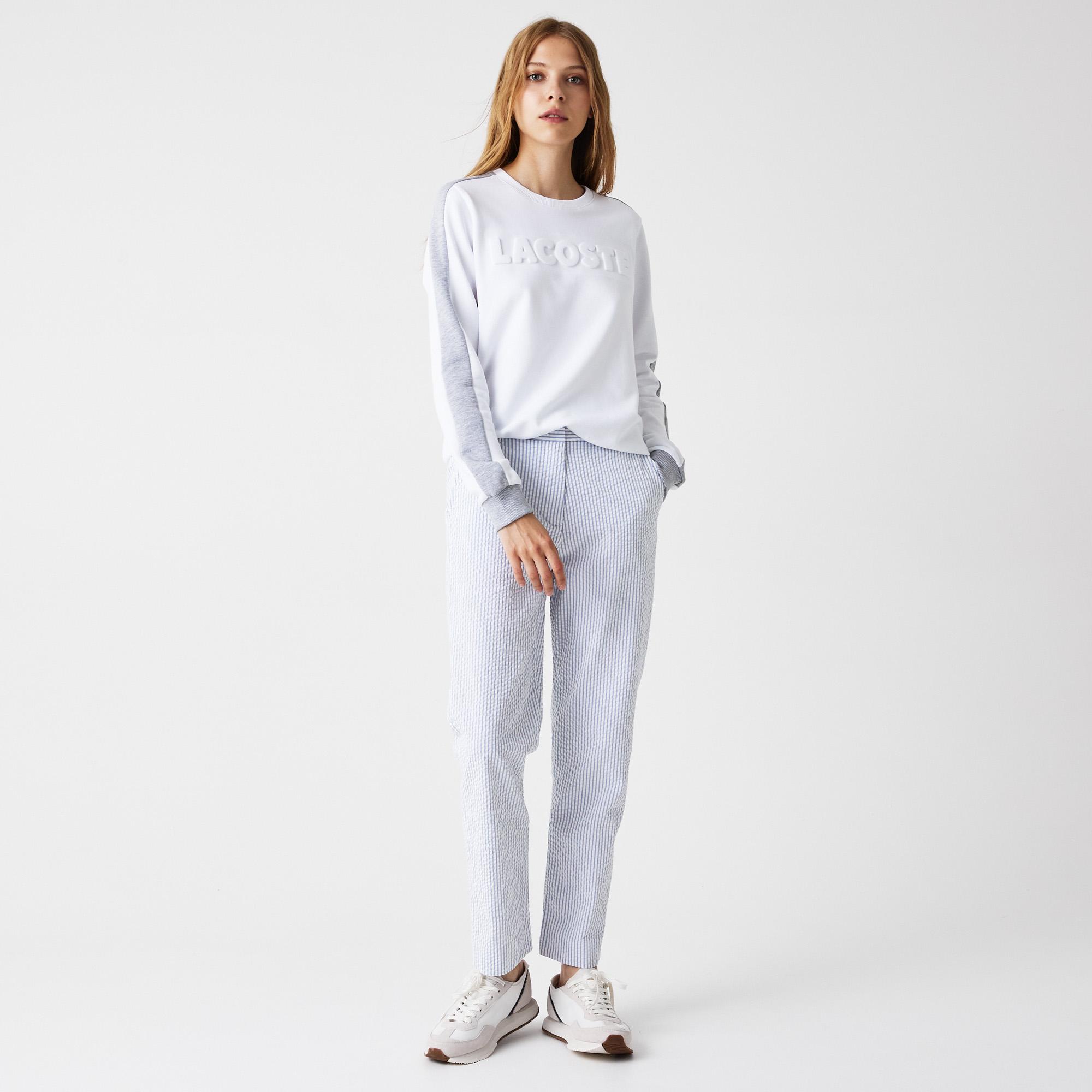 женские брюки lacoste, голубые