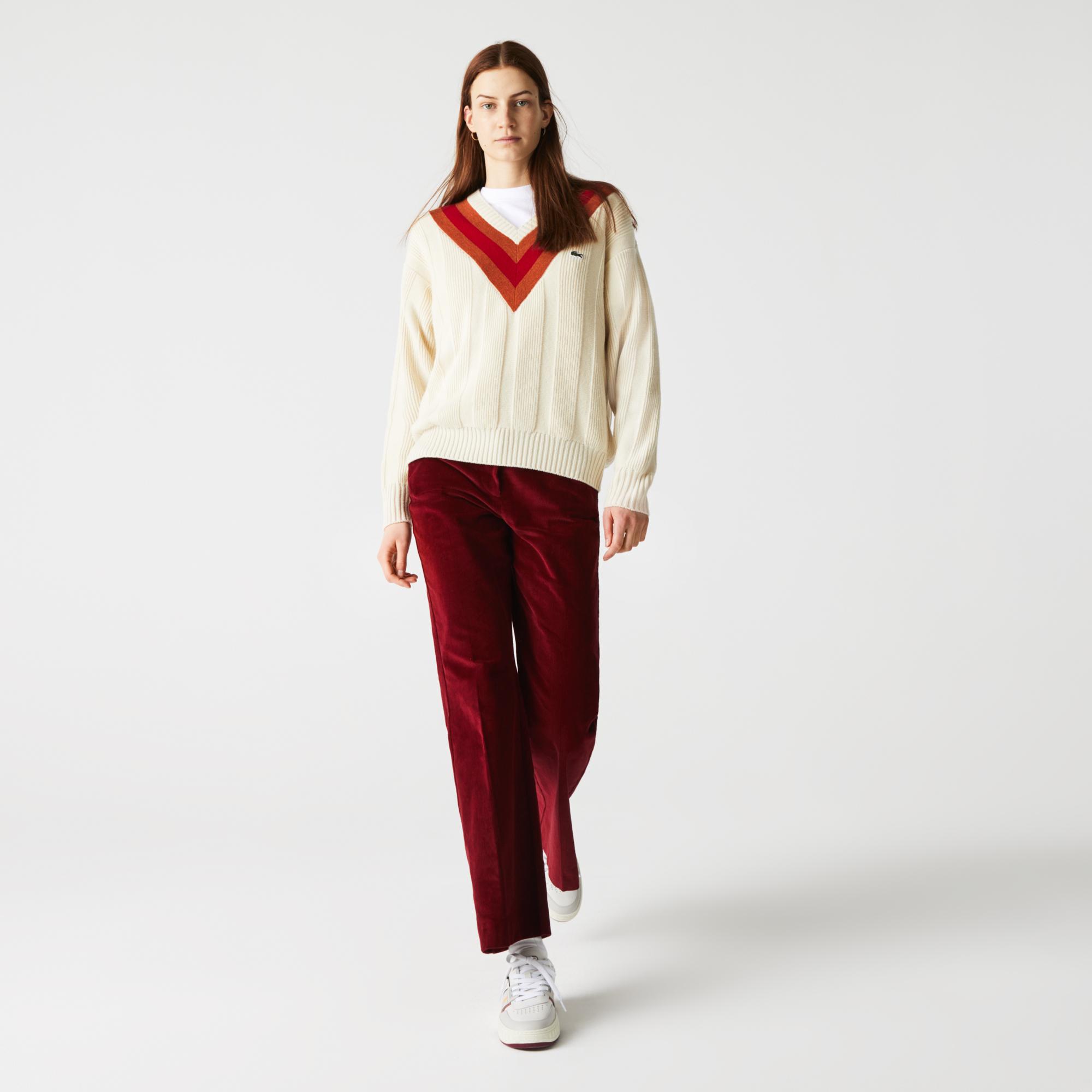 женские брюки lacoste, бордовые