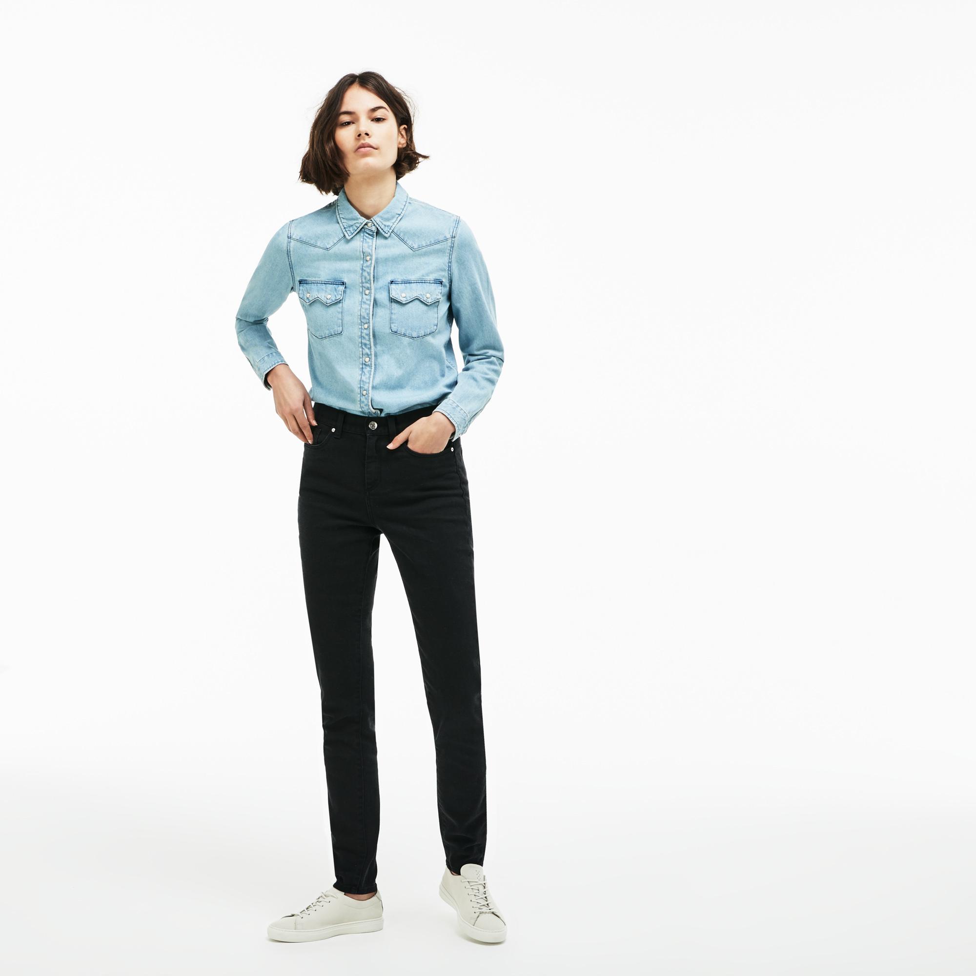 женские брюки lacoste, черные