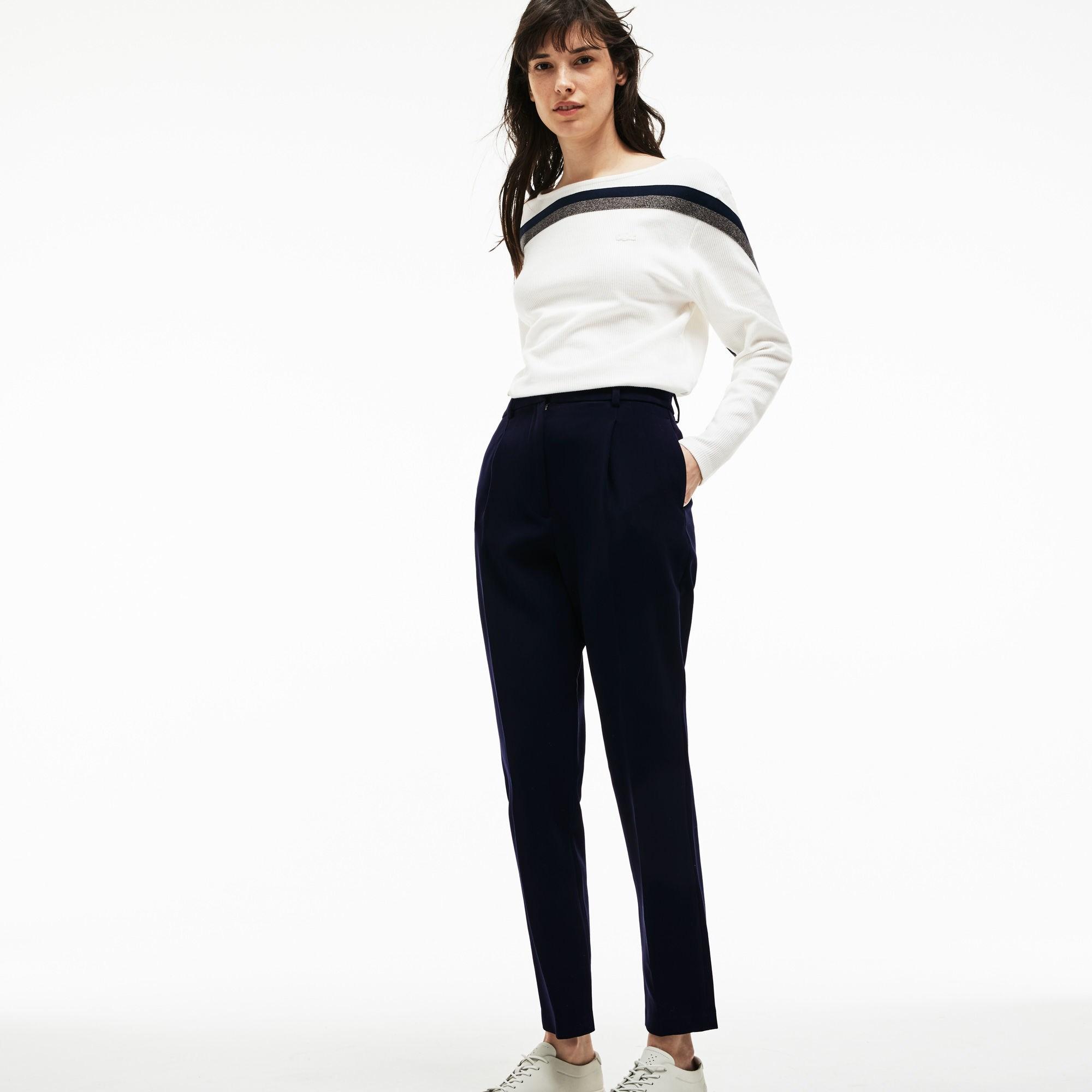 женские брюки lacoste, синие