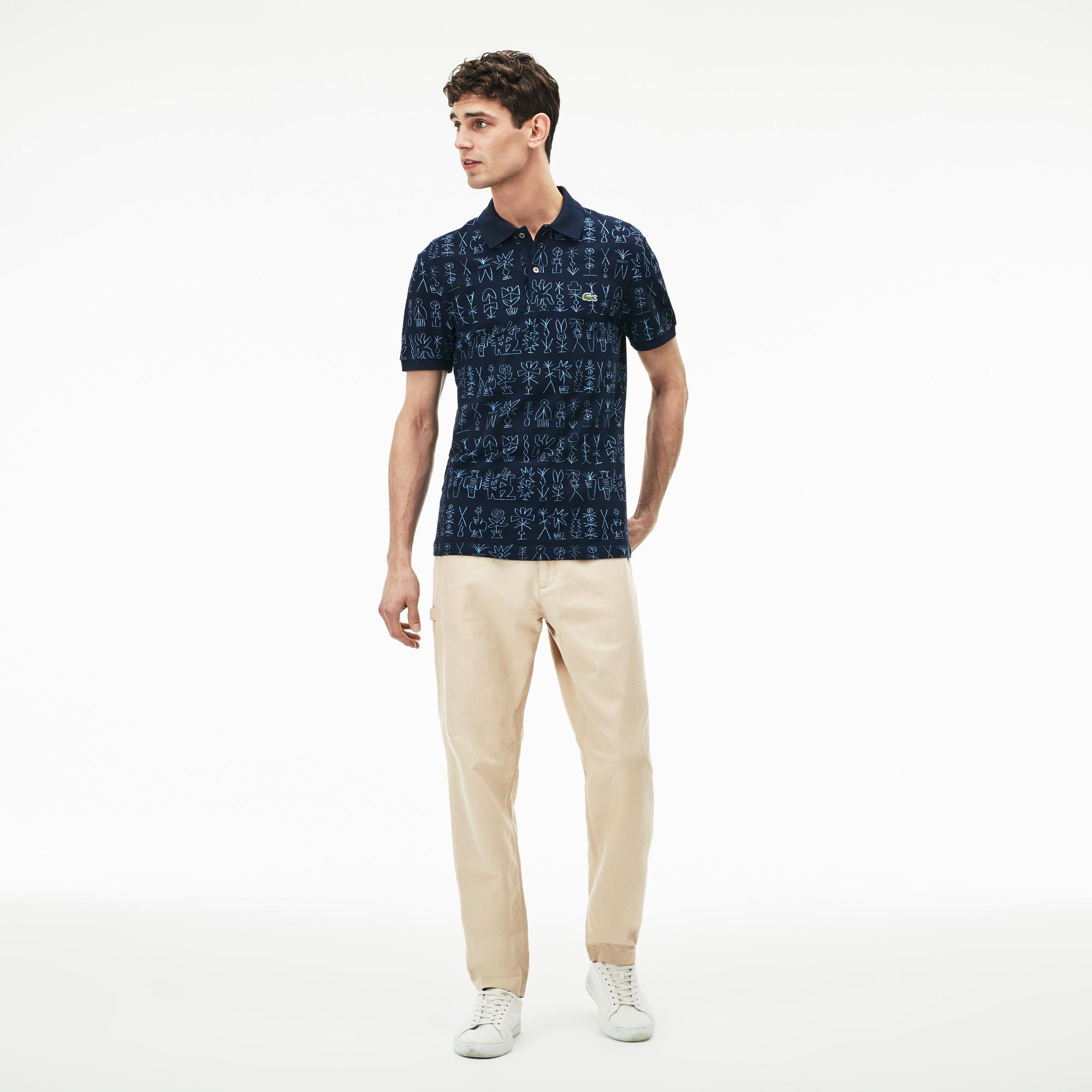 Брюки Lacoste Regular fitБрюки<br>Детали: мужские брюки на каждый день  \ Материал: 75% хлопок 25% лен 50% хлопок 50% полиэстер \ Страна производства: Тунис