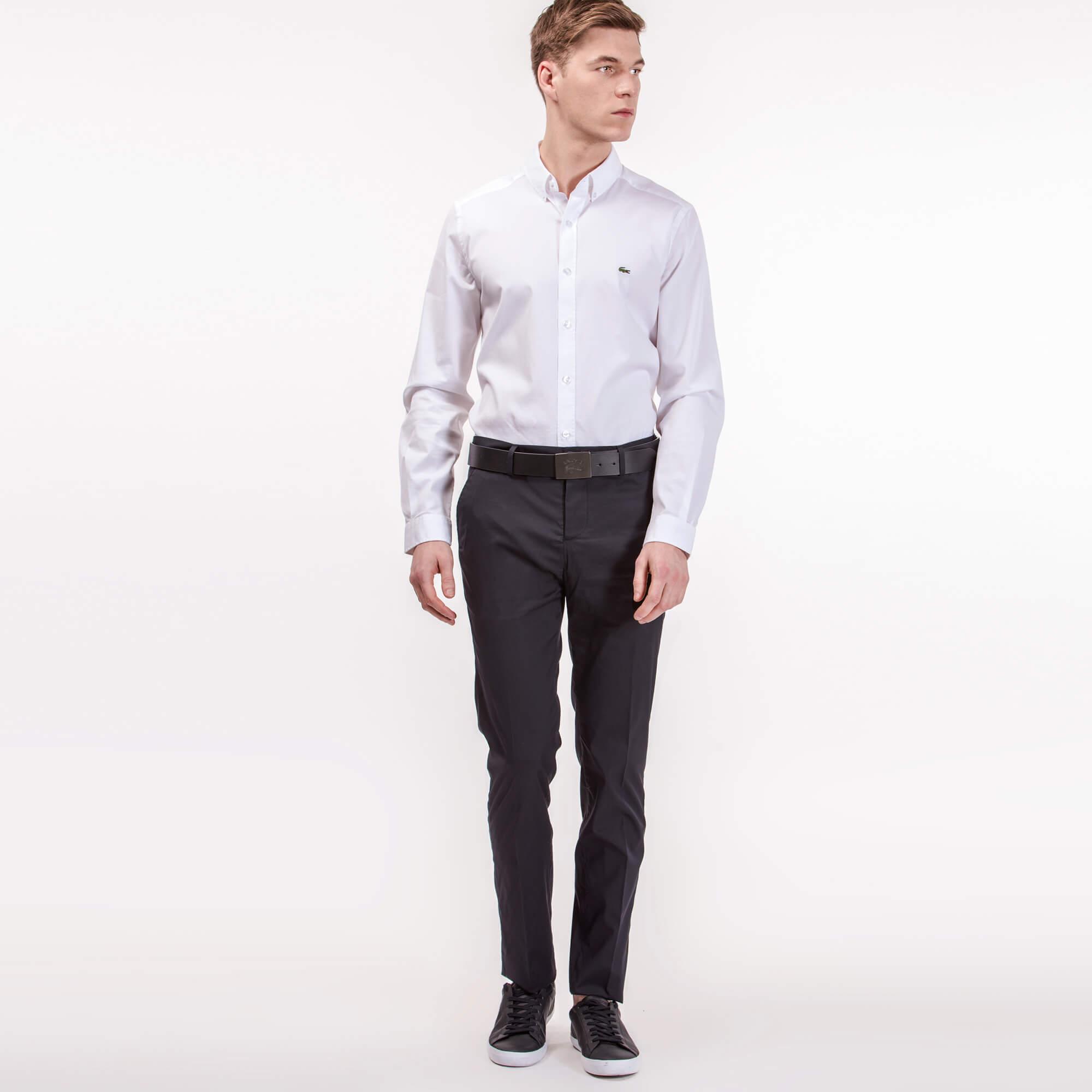 Брюки Lacoste Regular fitБрюки<br>Детали: стильные мужские брюки  \ Материал: 75% хлопок 22% полиамид 3% эластан \ Страна производства: Турция