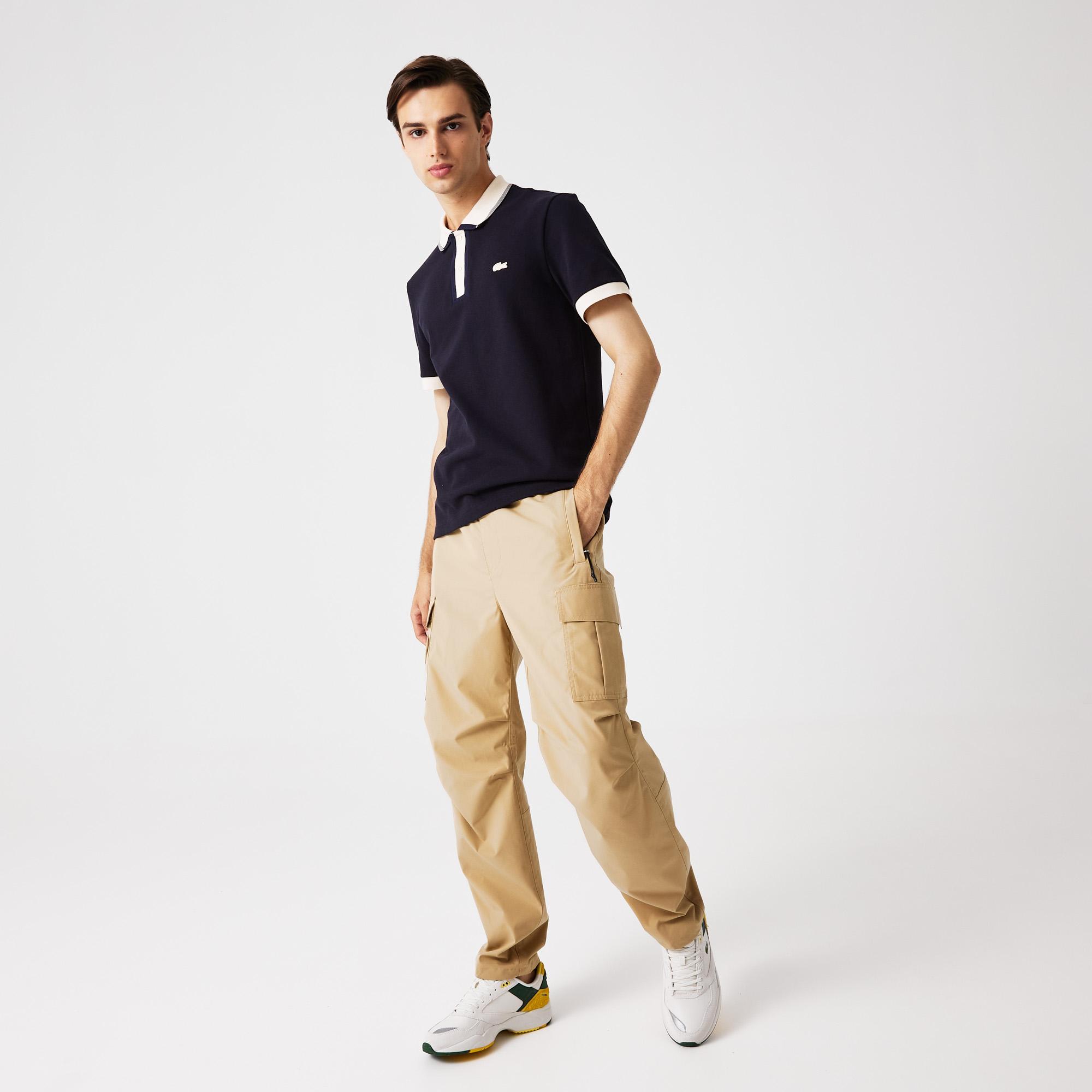 мужские брюки lacoste, бежевые