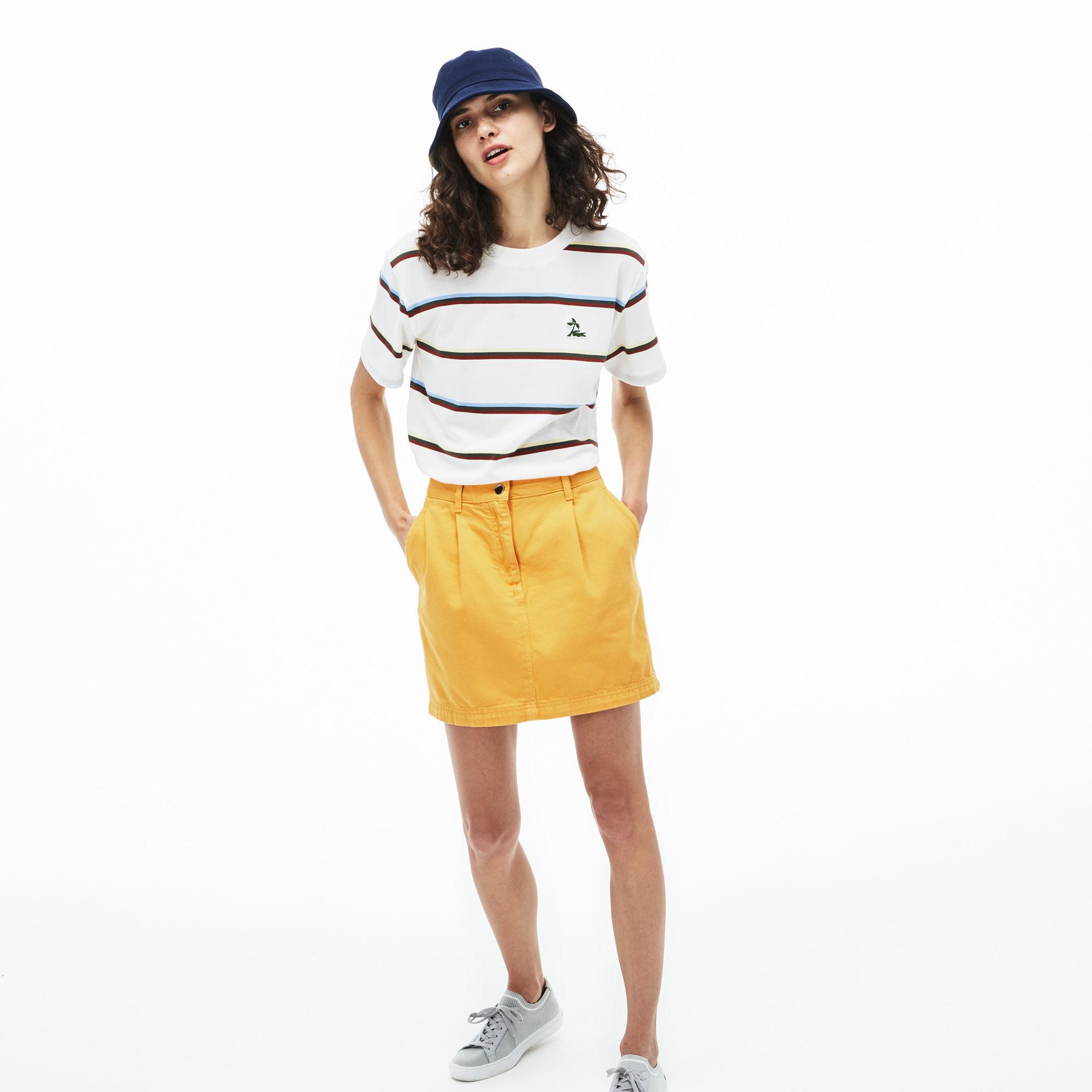женская юбка lacoste, желтая