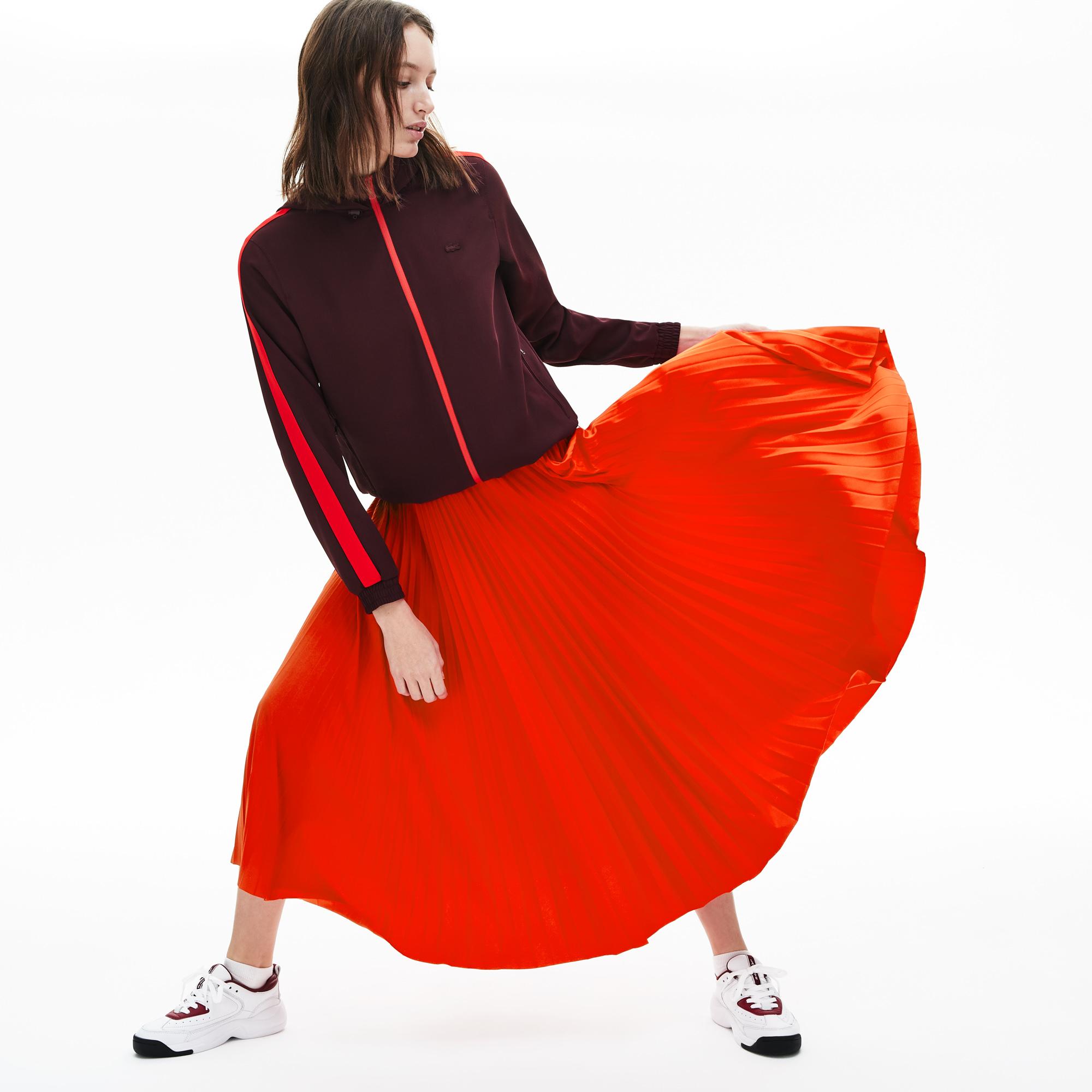 женская юбка lacoste, красная