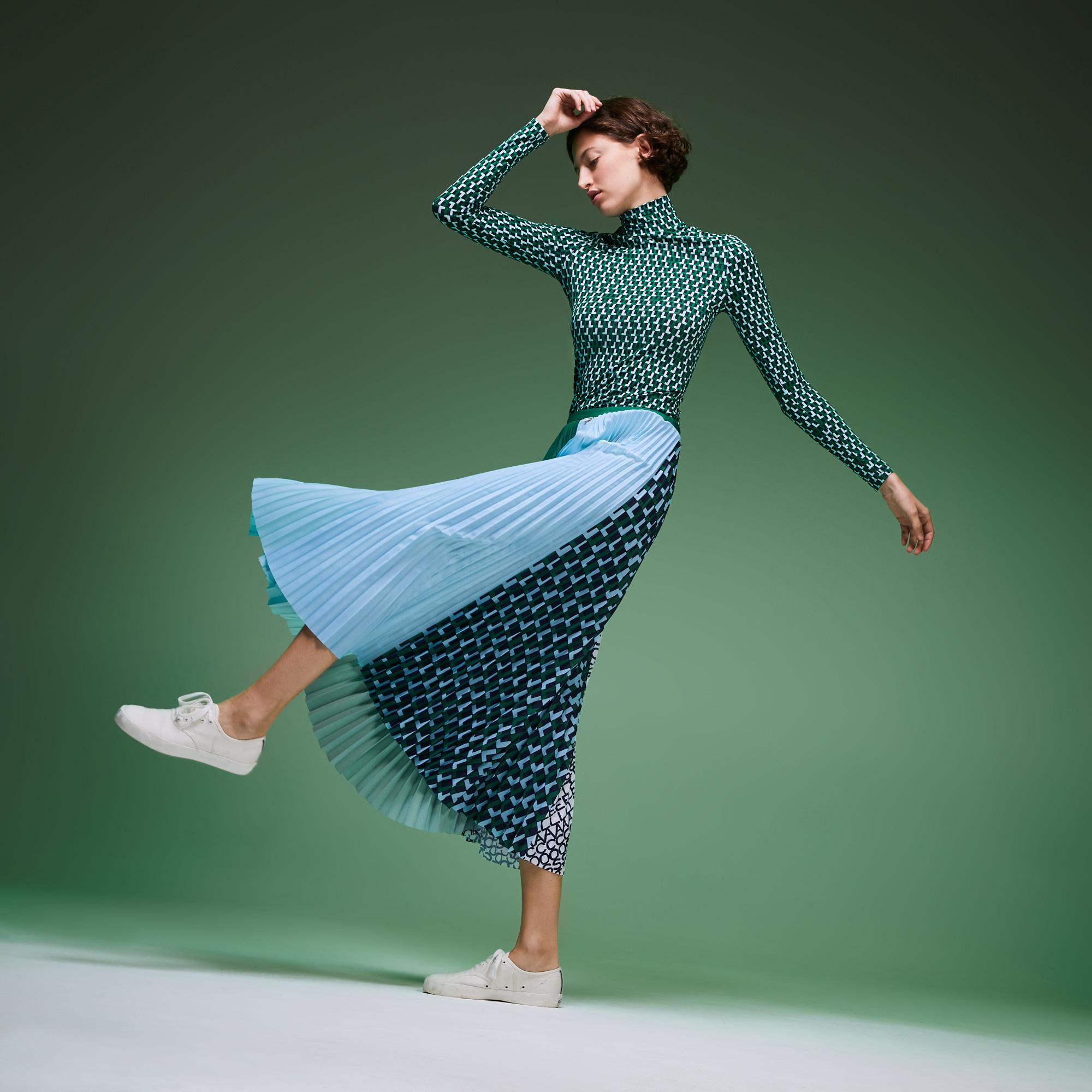 женская юбка lacoste, зеленая
