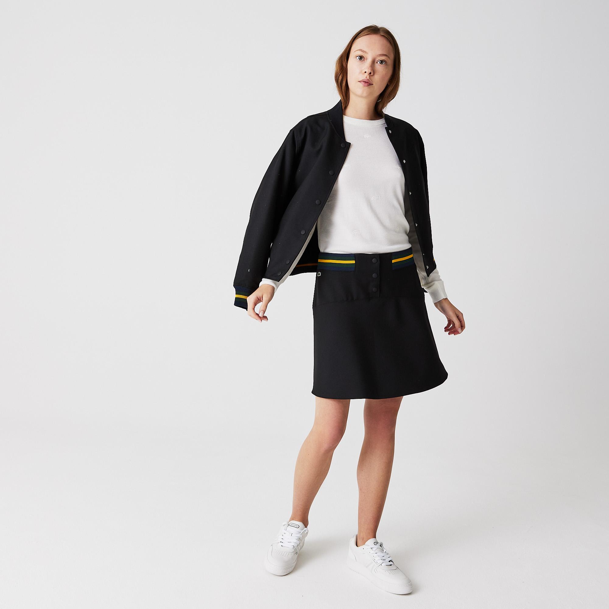 женская юбка lacoste, черная