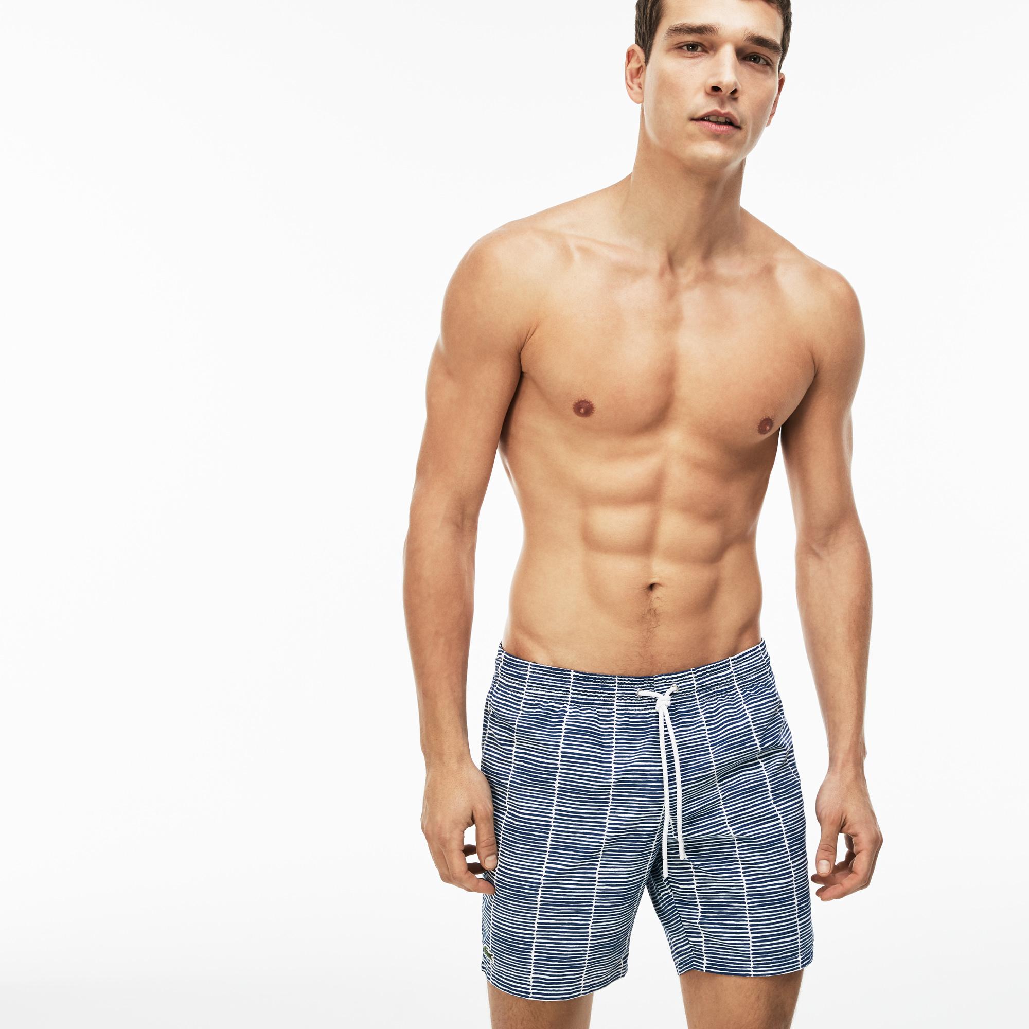 мужские шорты lacoste, голубые