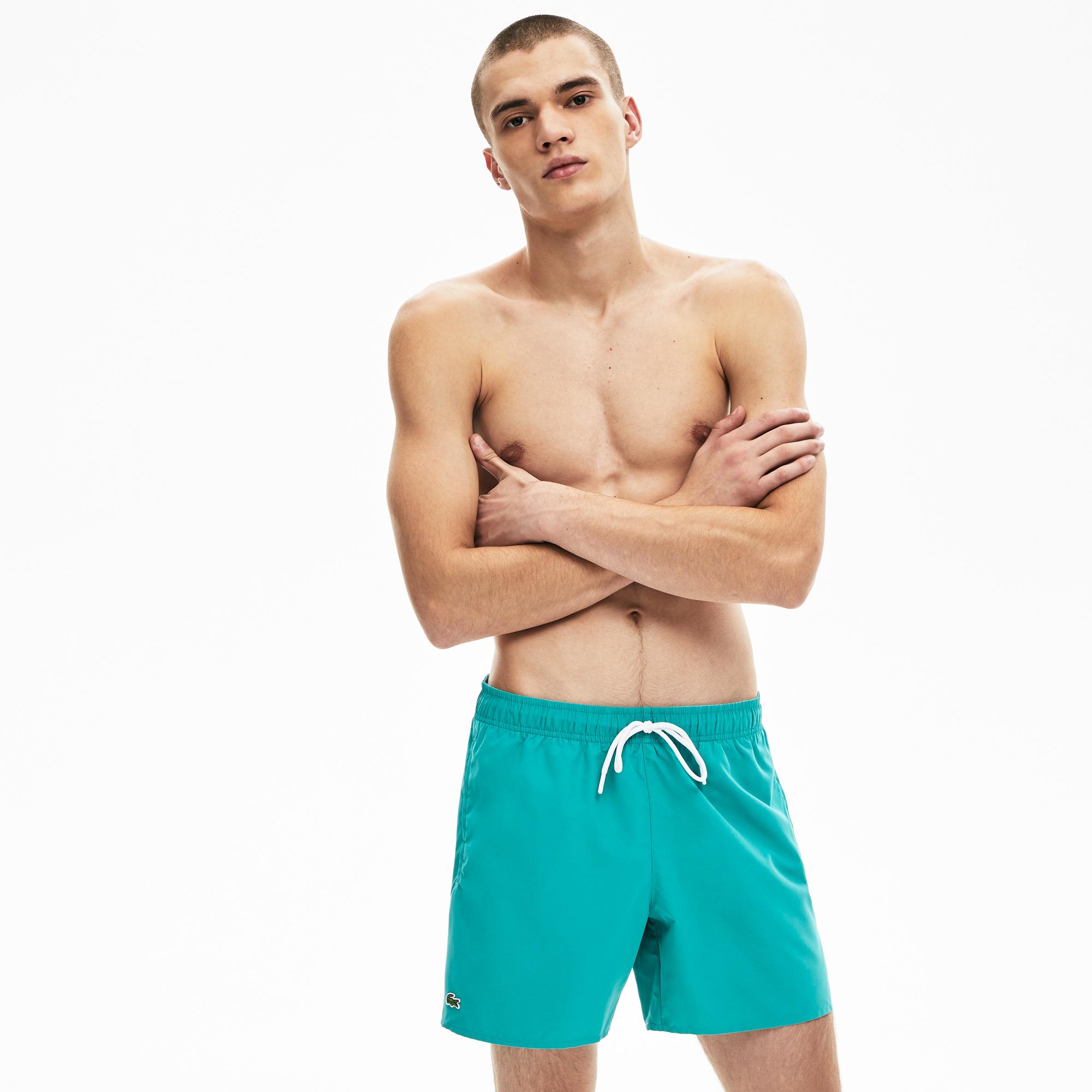 мужские шорты lacoste, бирюзовые