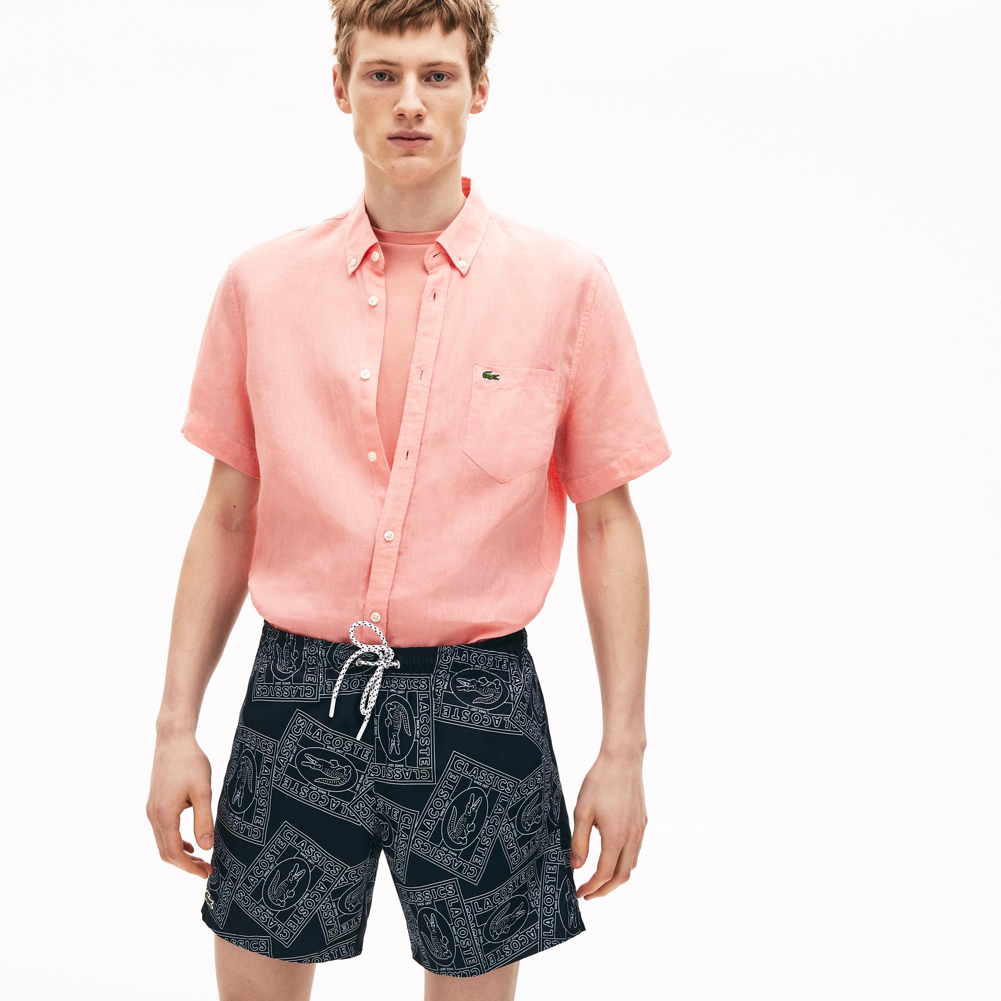 мужские шорты lacoste, черные