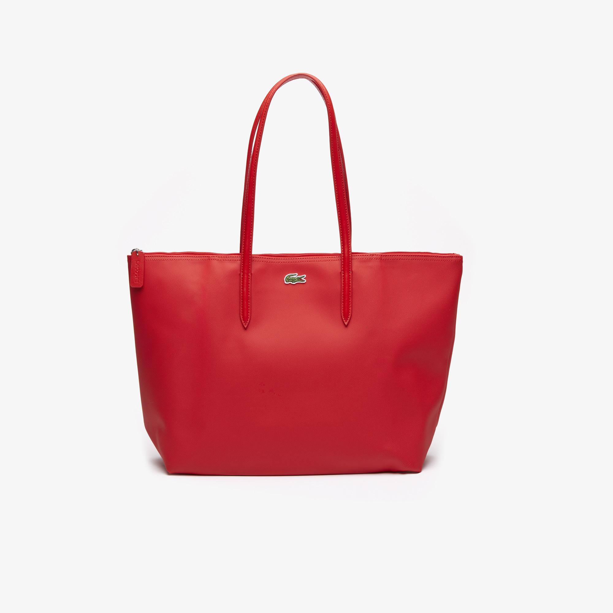 женская сумка lacoste, красная