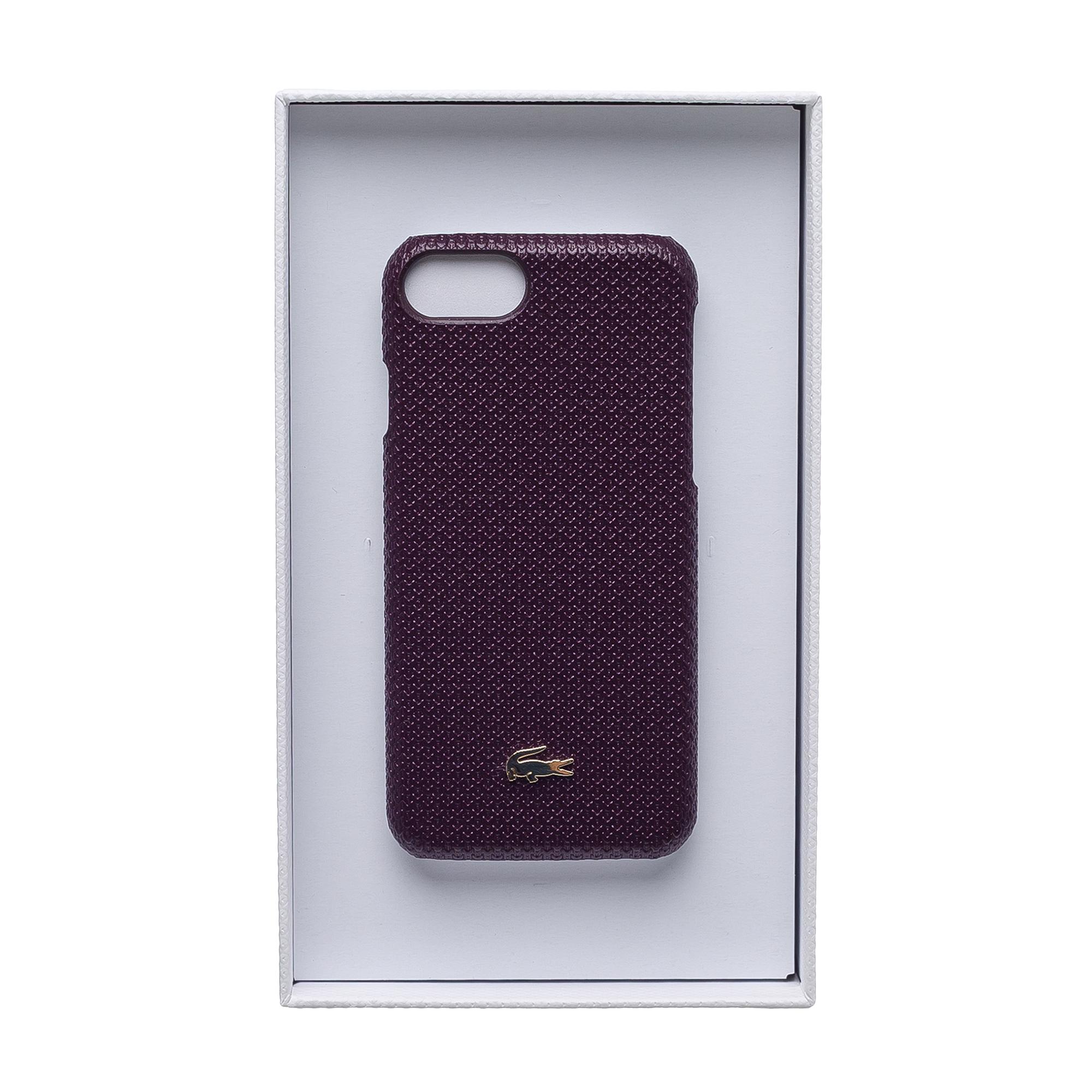 Купить Чехол для телефона Lacoste, бордовый, NF2707CE