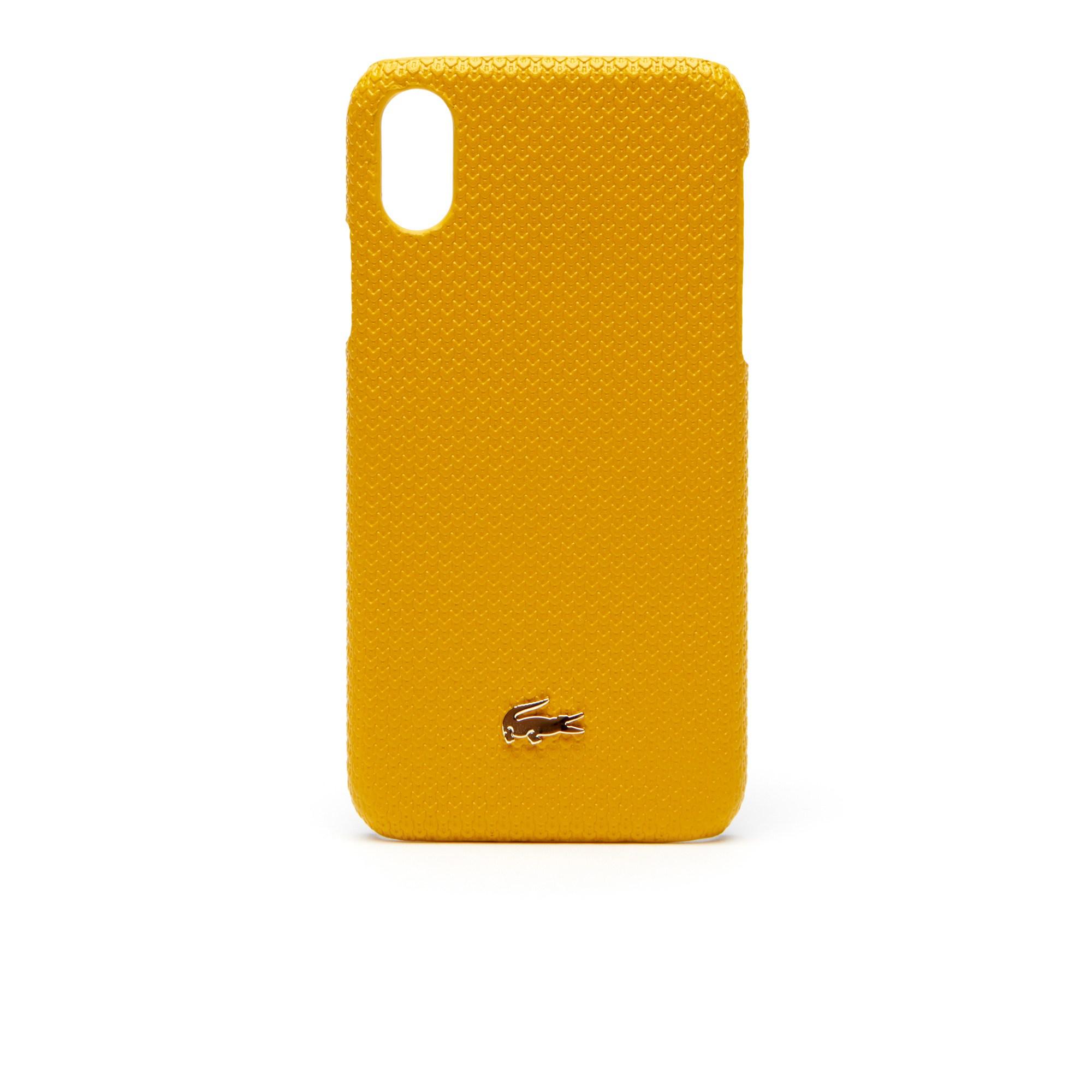 Чехол для телефона LacosteСумки и кошельки<br>Детали: Для iPhoneX;\Металлический логотип;\Размеры: 7,1 х 14,3 х 1 см\Материал: 100% прессованная коровья кожа