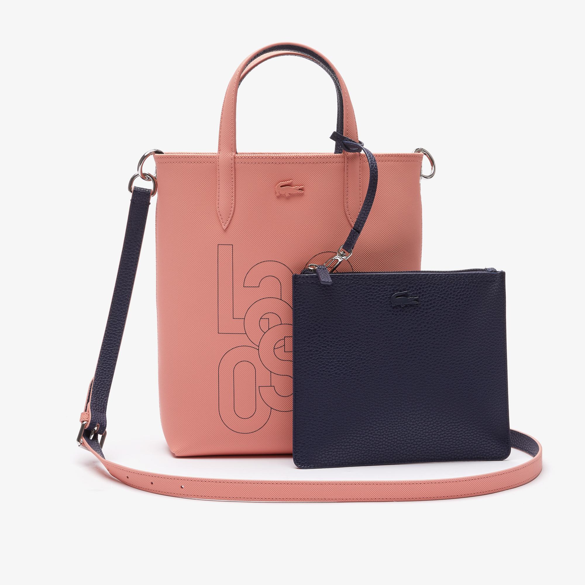 женская сумка lacoste, розовая