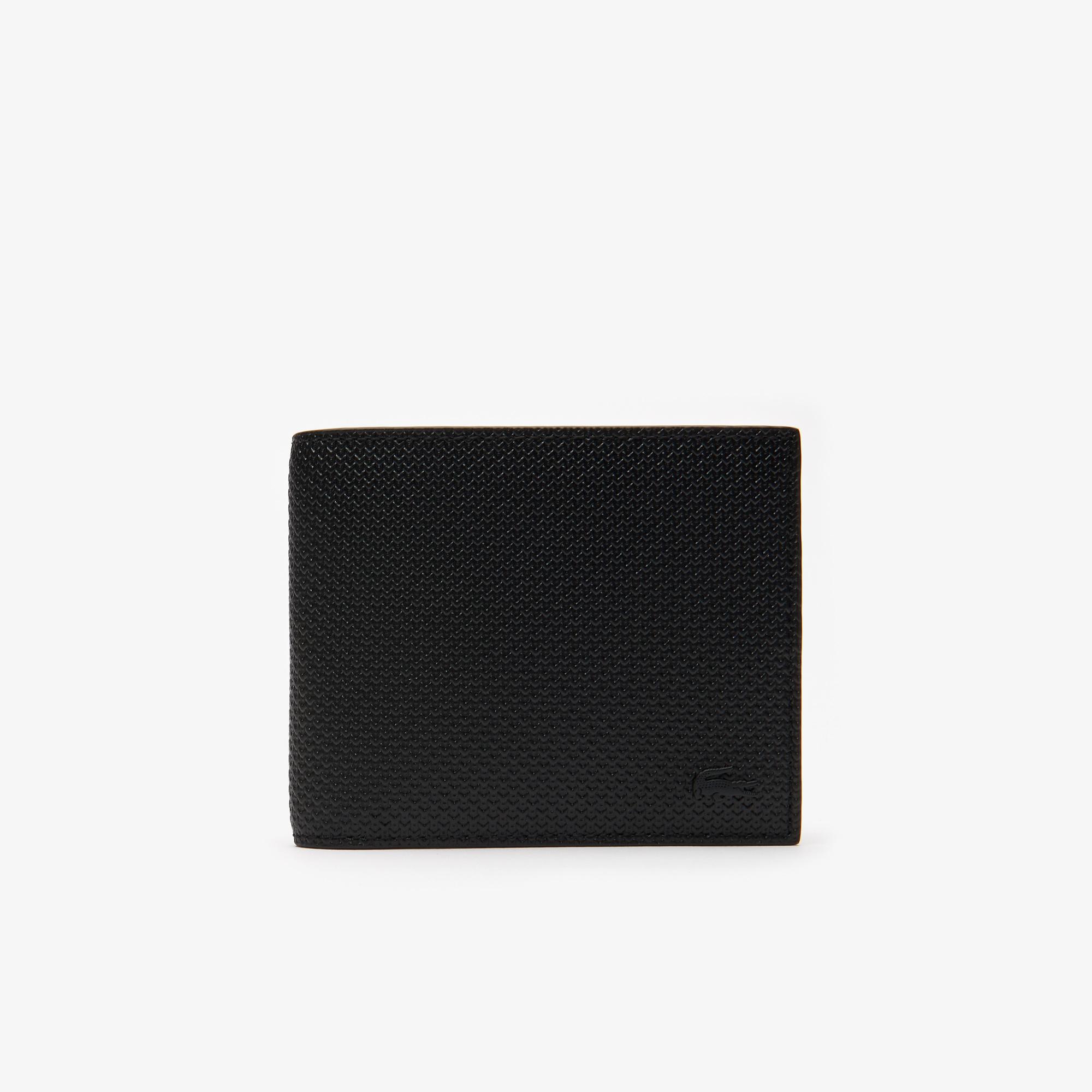 Сумка LacosteСумки и кошельки<br>Детали: 8 отделения для карт;\Отделение для банкнот;\Отделение для мелочи;\Размеры: 10,5 х 10,5 х 0,5 см;\Металлический логотип Lacoste в тон изделия\Материал: 100% пресованная коровья кожа