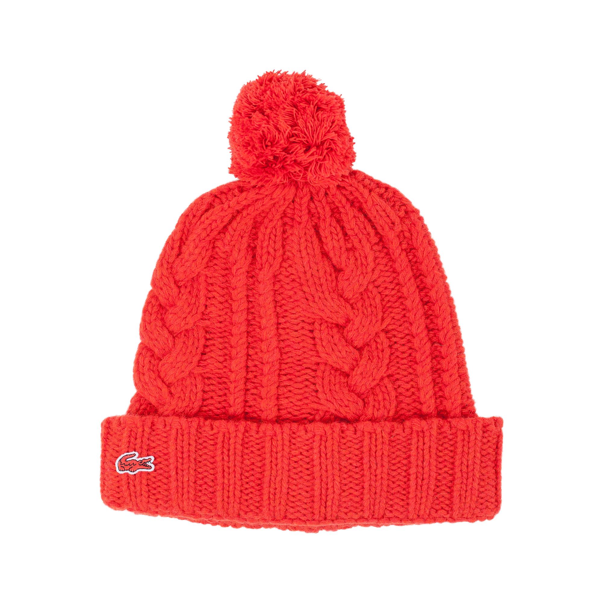 мужская шапка lacoste, красная