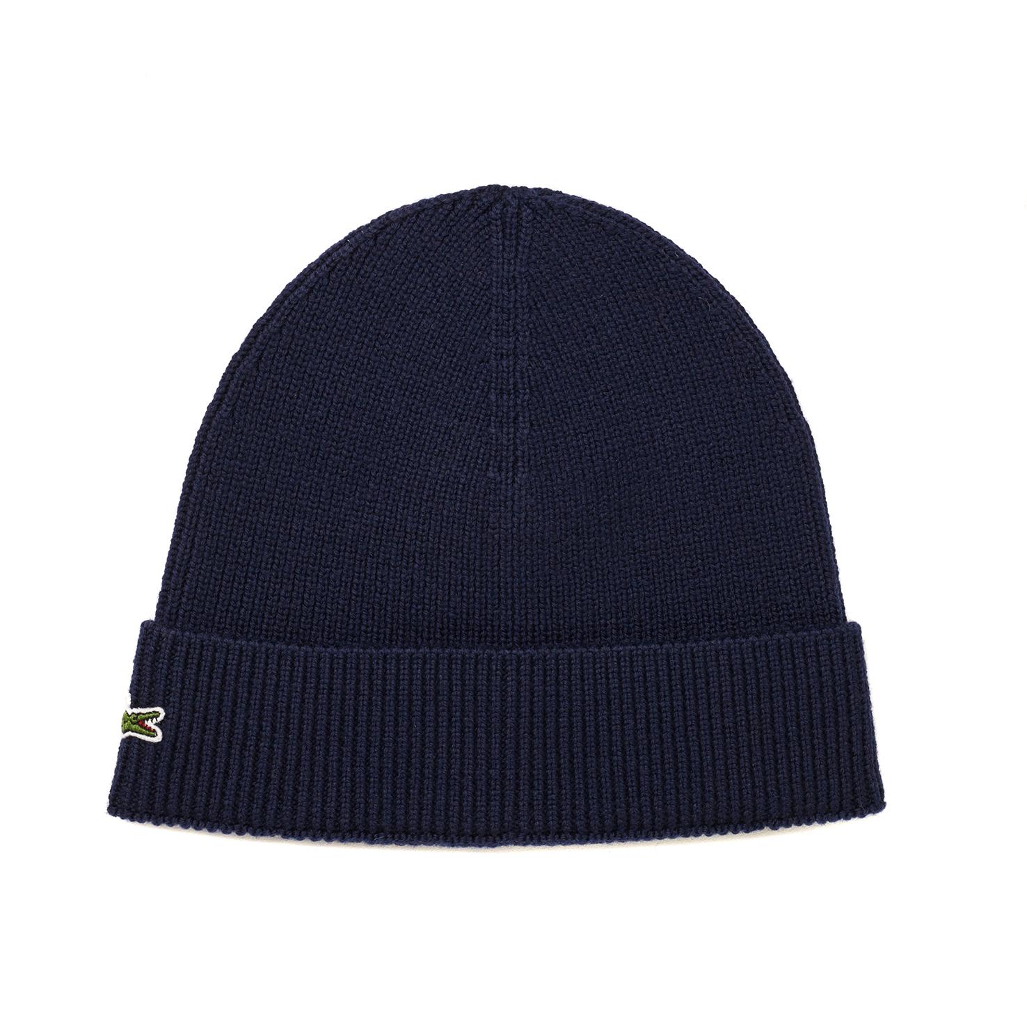 Купить Вязаная шапка Lacoste, темно-синий, RB3502