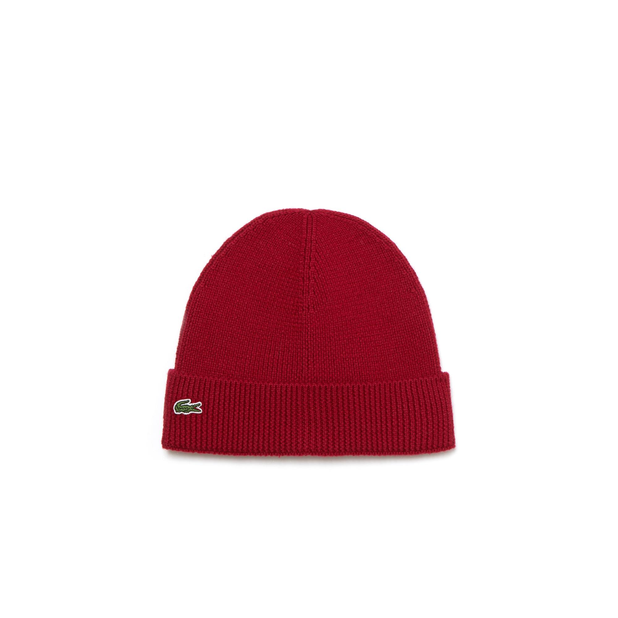 Купить Вязаная шапка Lacoste, бордовый, RB3502