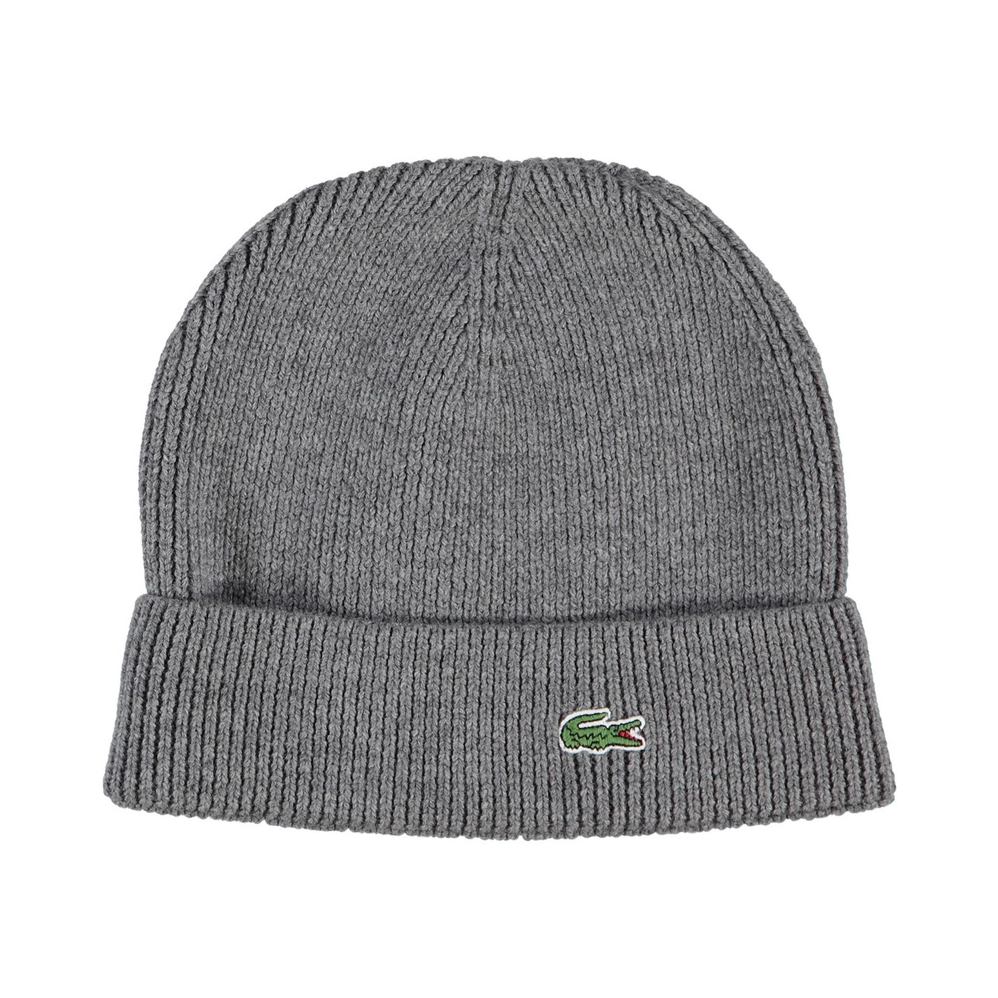 Фото - Вязаная шапка Lacoste серого цвета