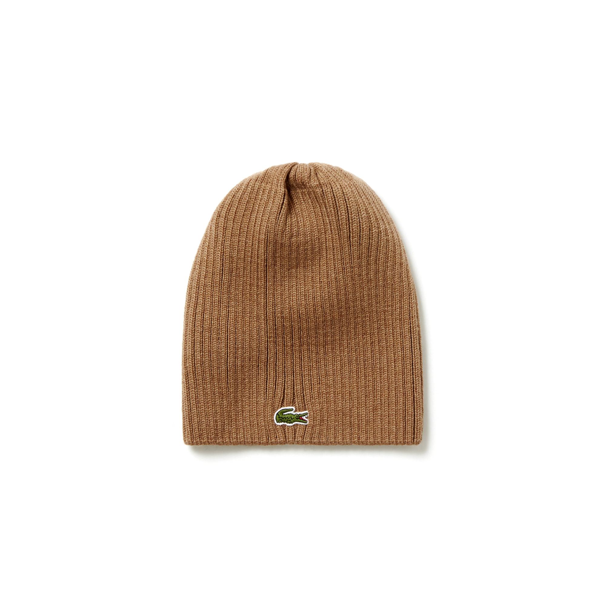 Купить Вязаная шапка Lacoste, бежевый, RB3504