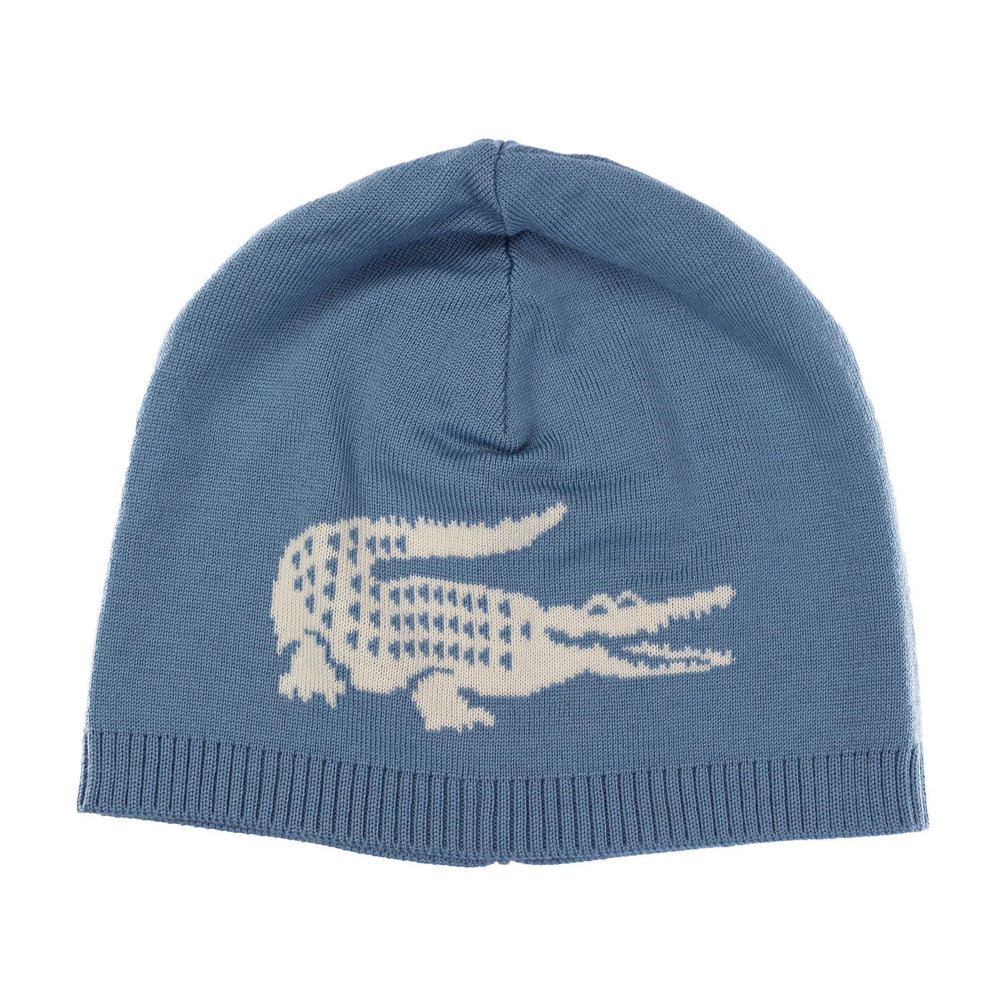 Купить Вязаная шапка Lacoste, голубой, RB3531