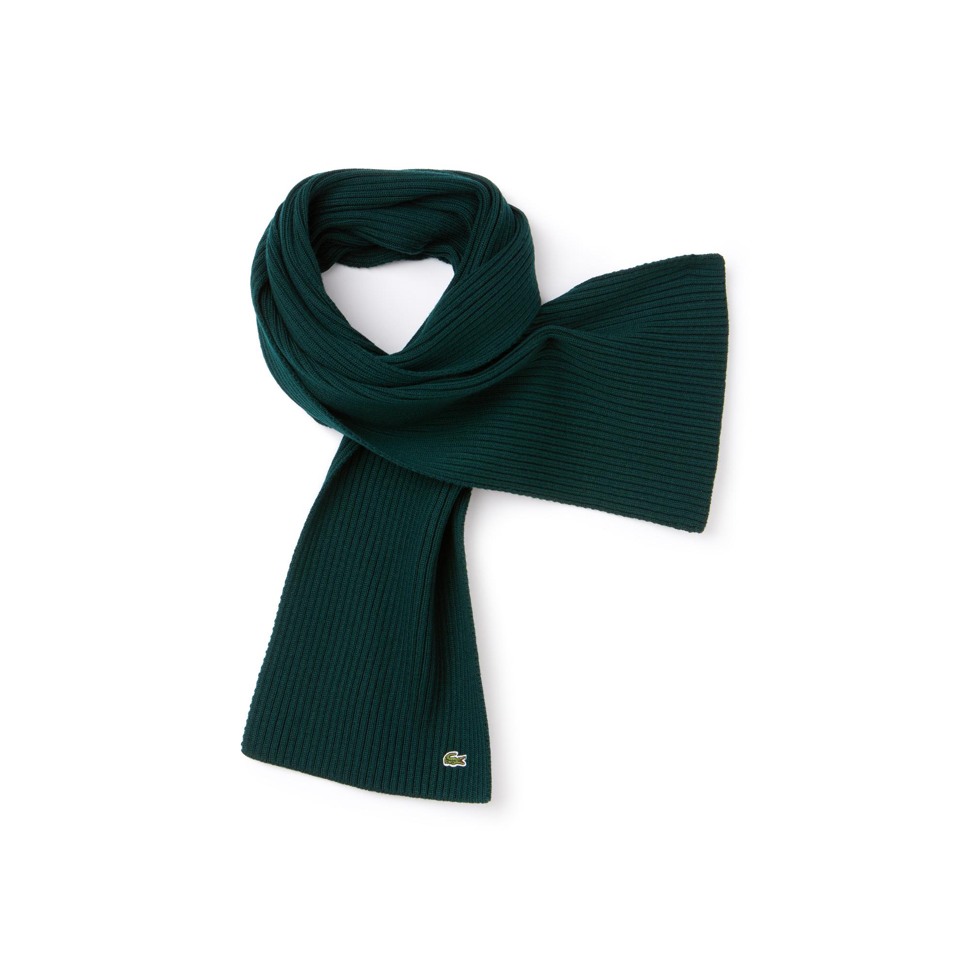 Купить Шарф Lacoste, зеленый, RE4212
