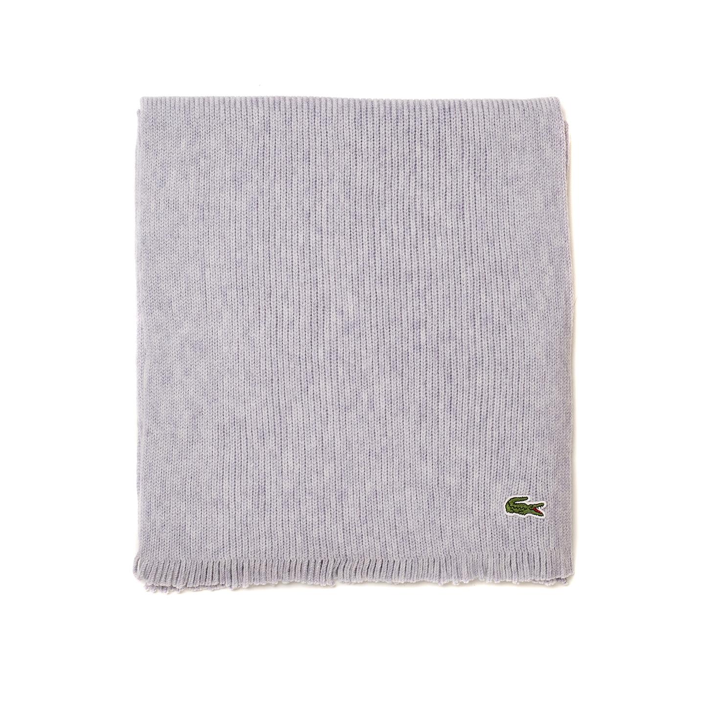 мужской шарф lacoste, серый