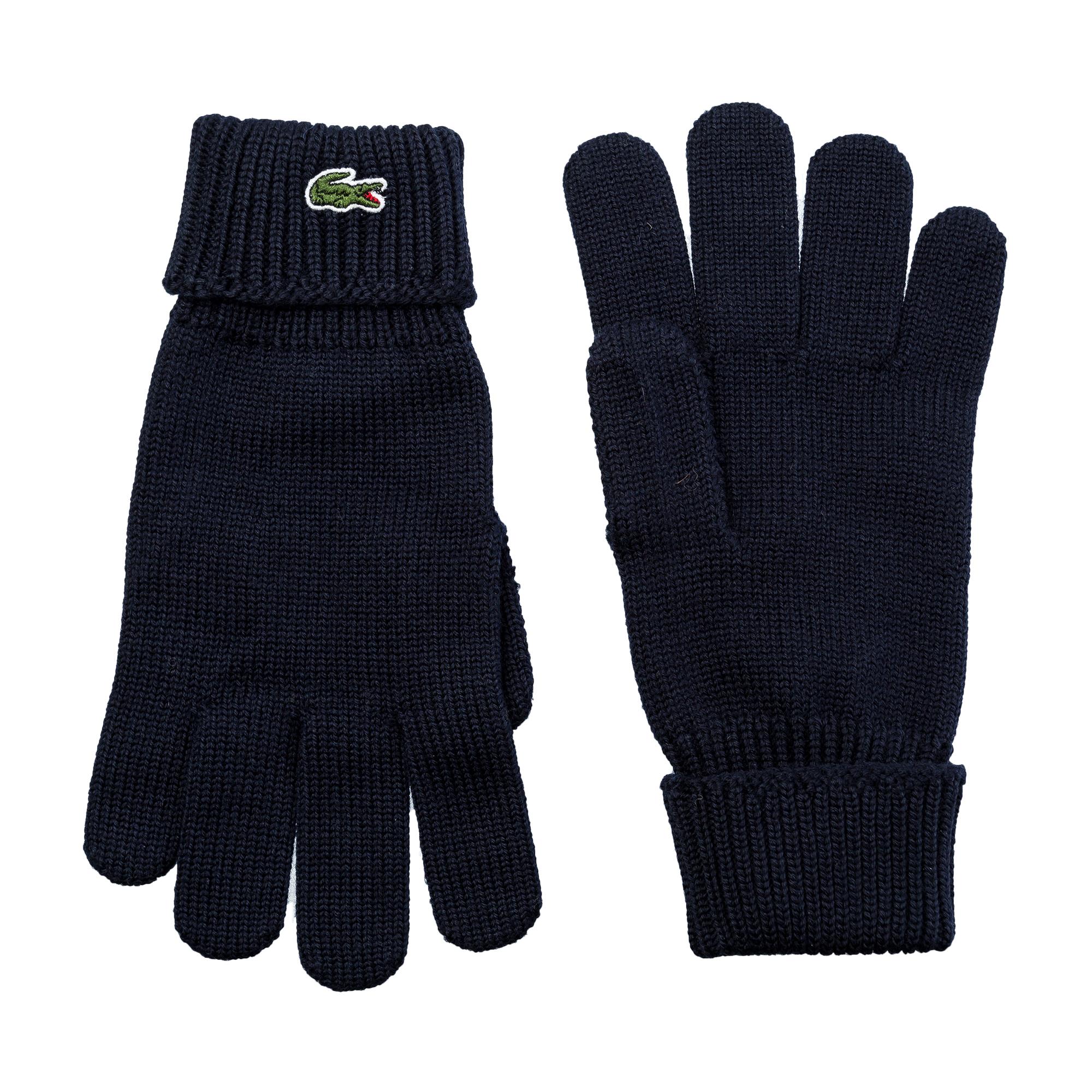 мужские перчатки lacoste, синие