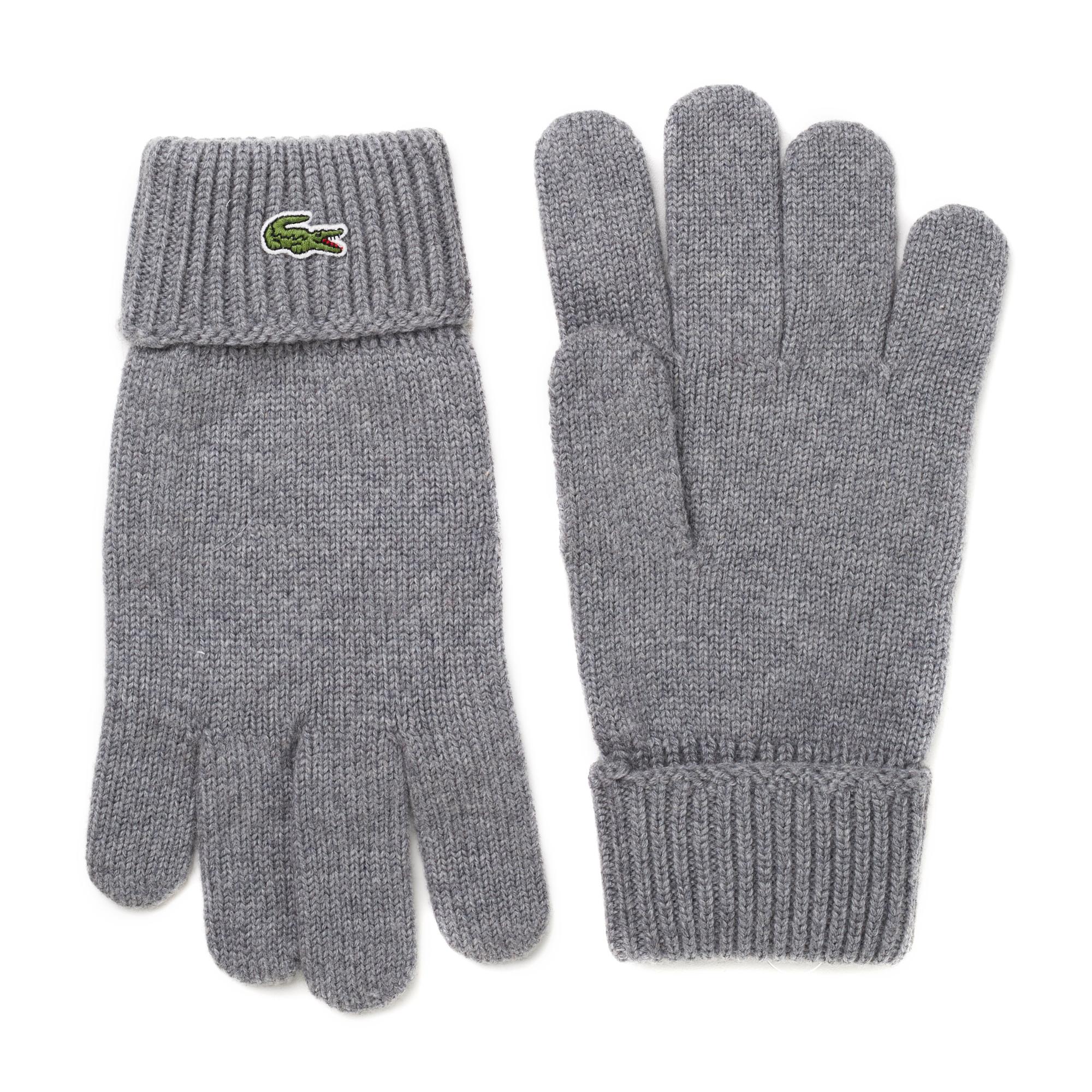 мужские перчатки lacoste, серые