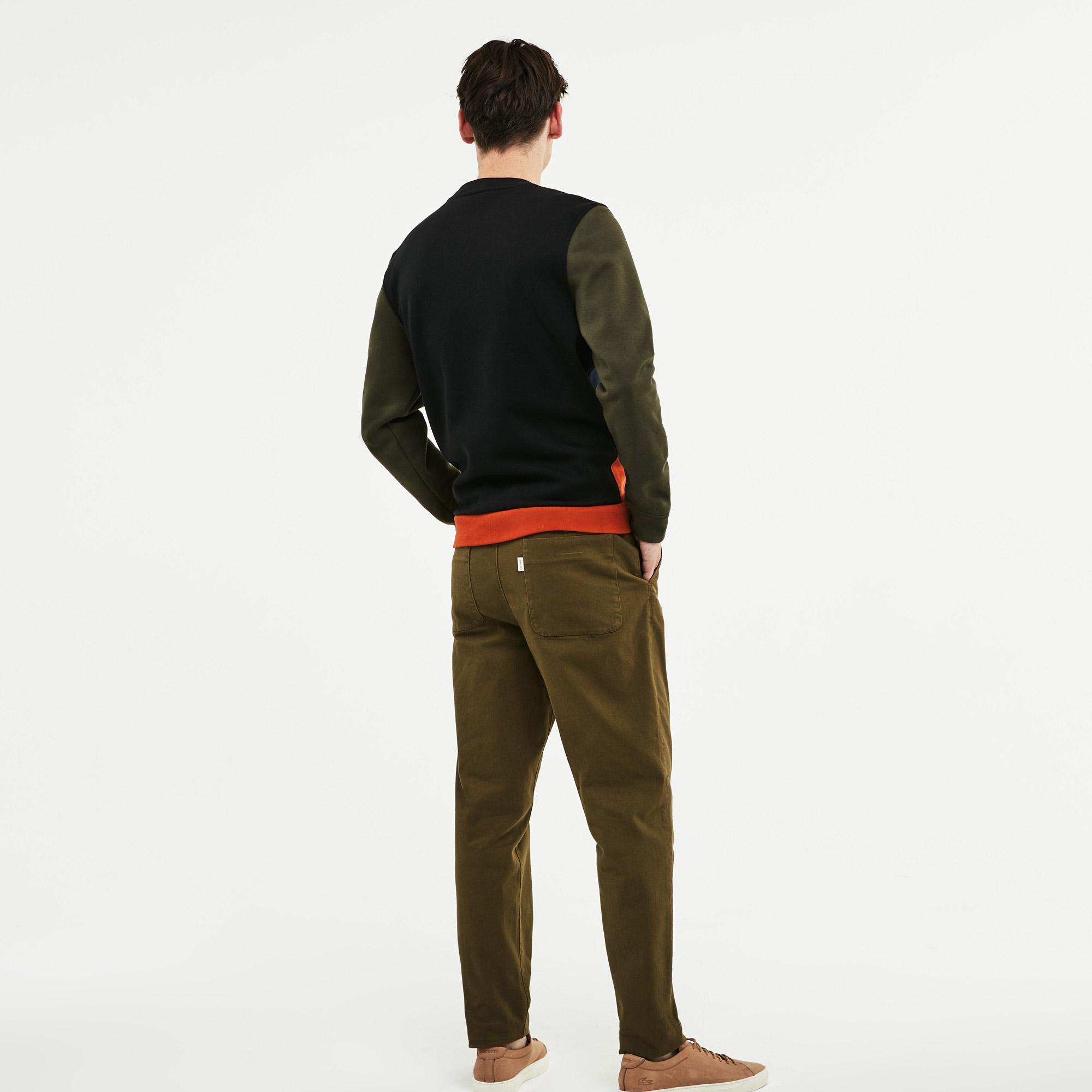 Фото 5 - Мужскую толстовку Lacoste зеленого цвета