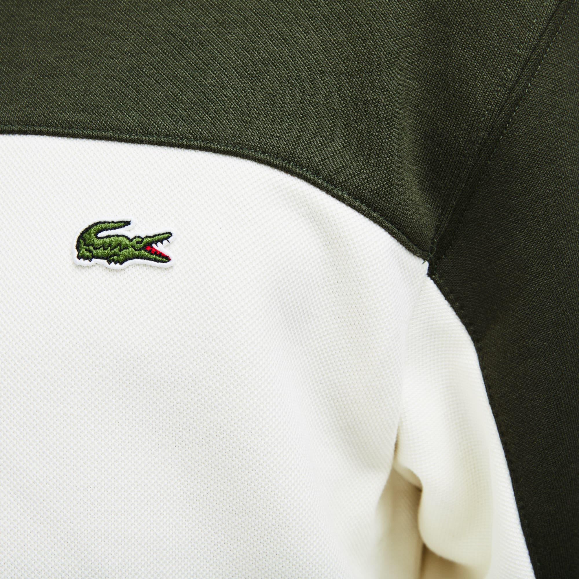 Фото 3 - Мужскую толстовку Lacoste зеленого цвета