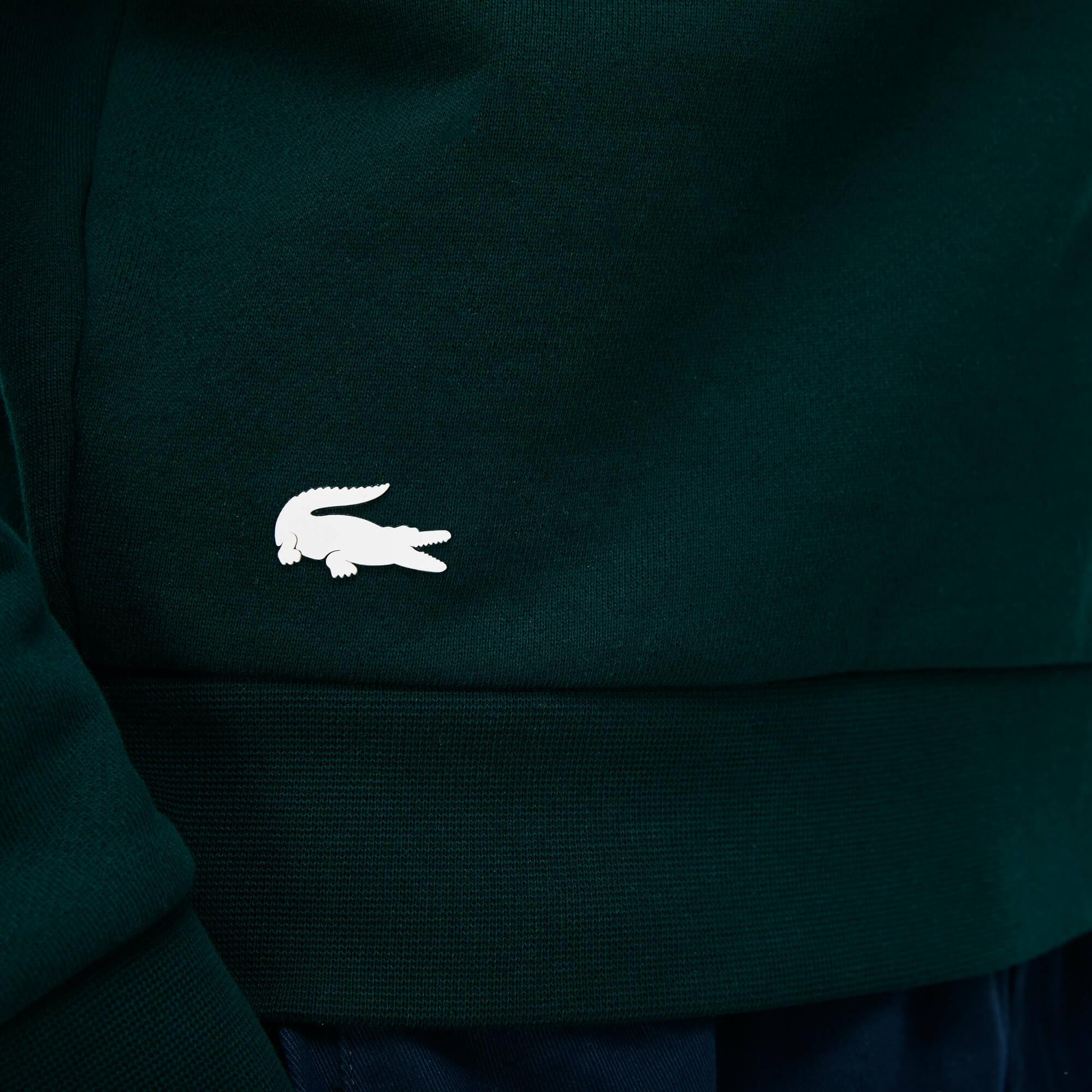Фото 2 - Мужскую толстовку Lacoste зеленого цвета