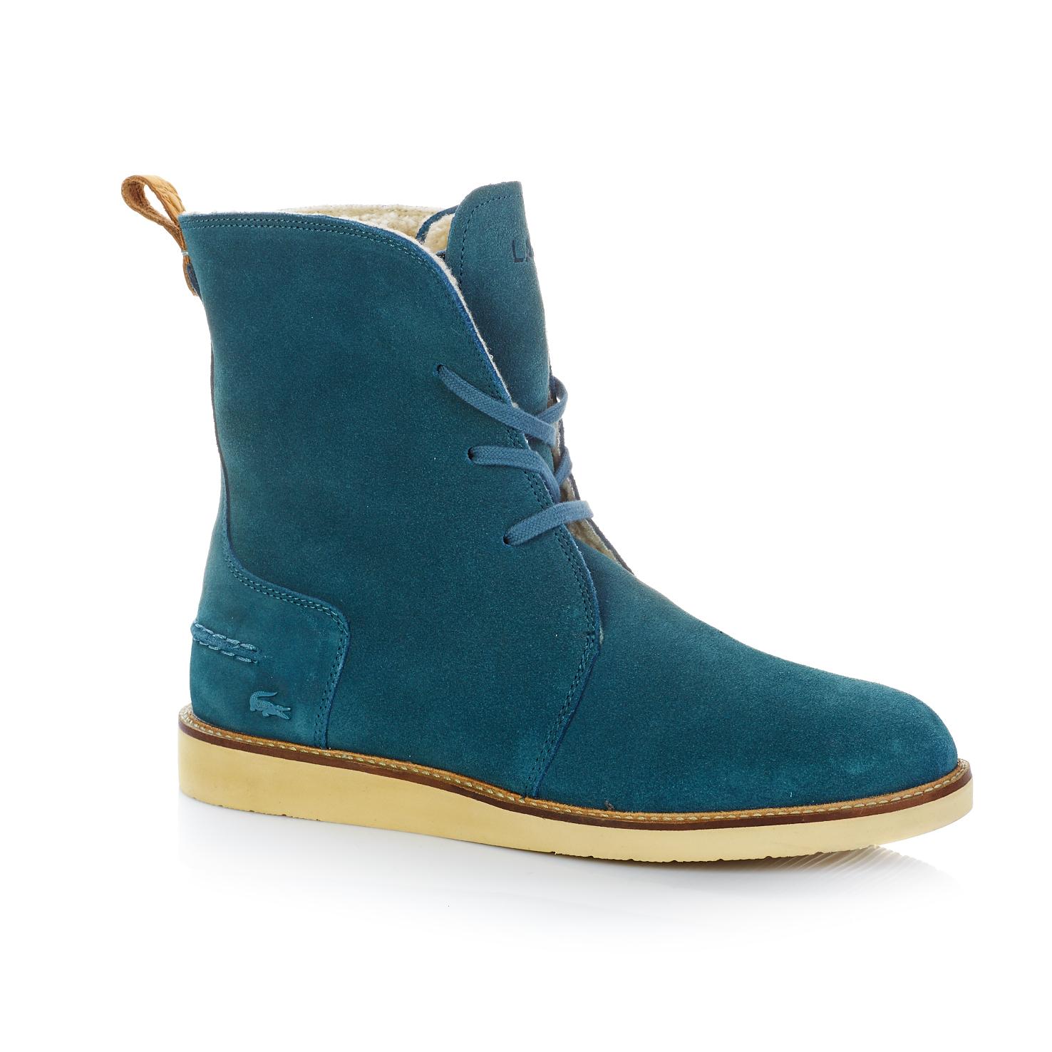 Ботинки  голубой цвета
