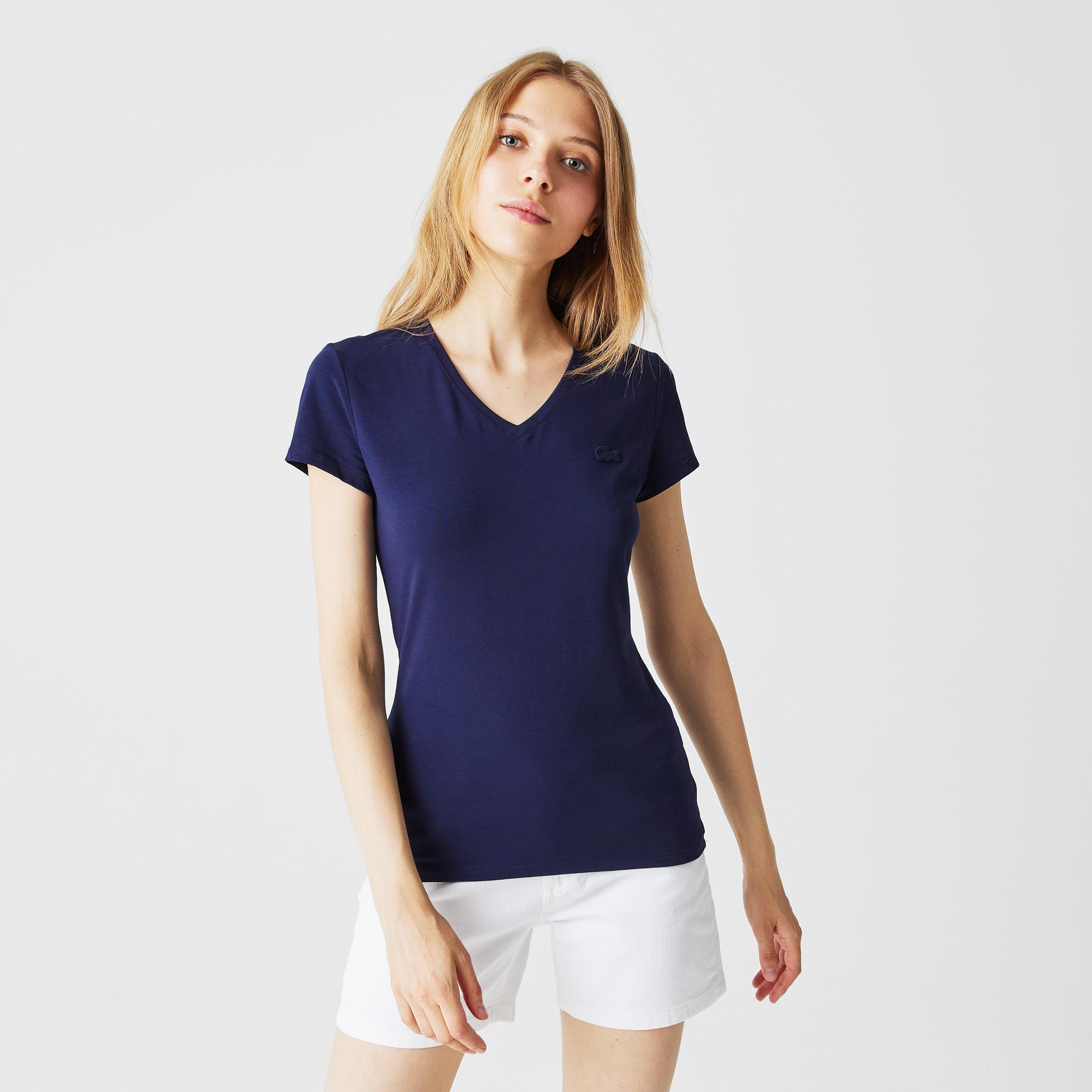 женская футболка lacoste