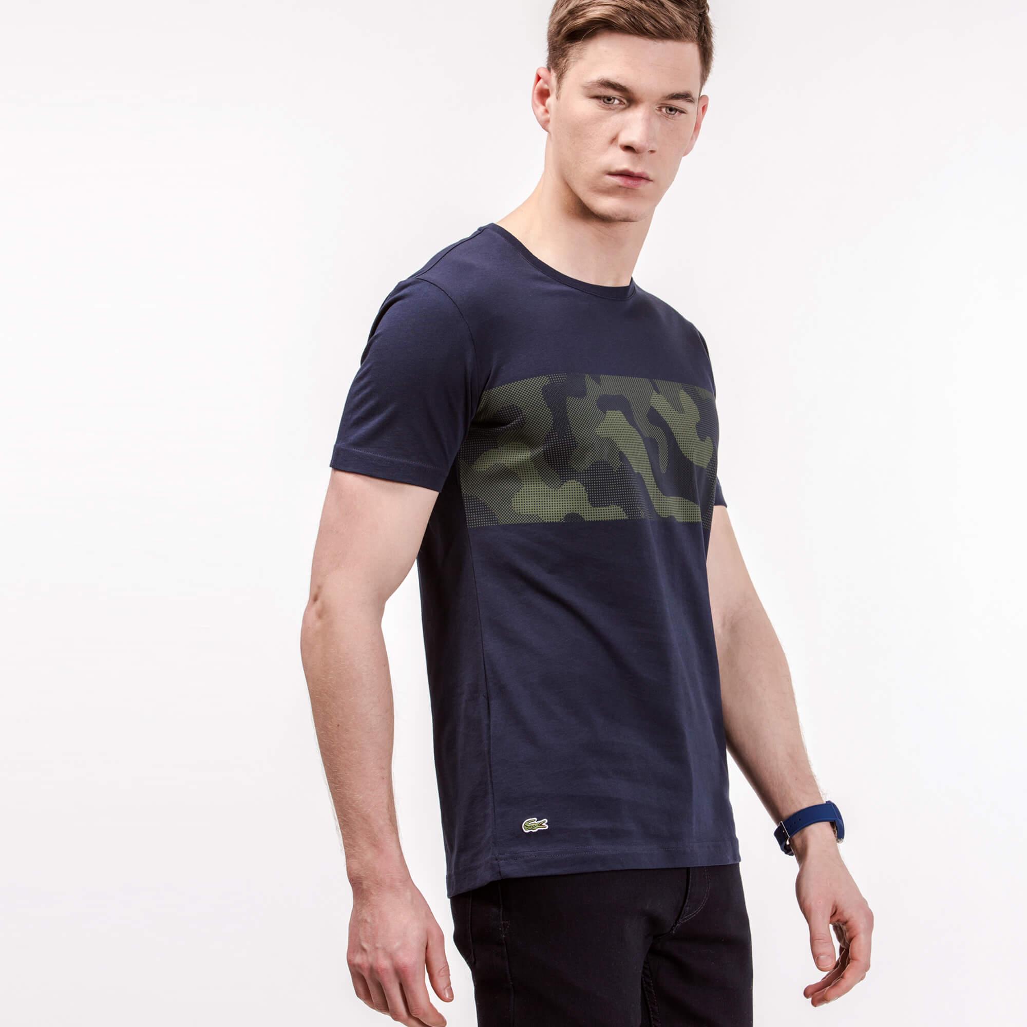 мужская футболка lacoste, синяя