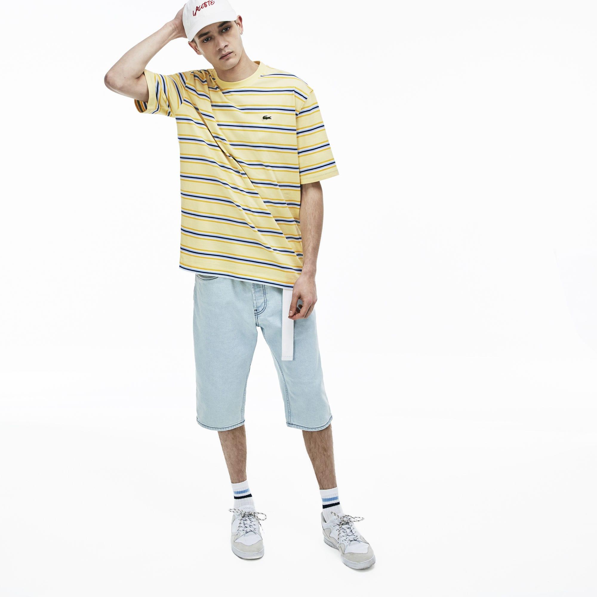 мужская футболка lacoste, желтая