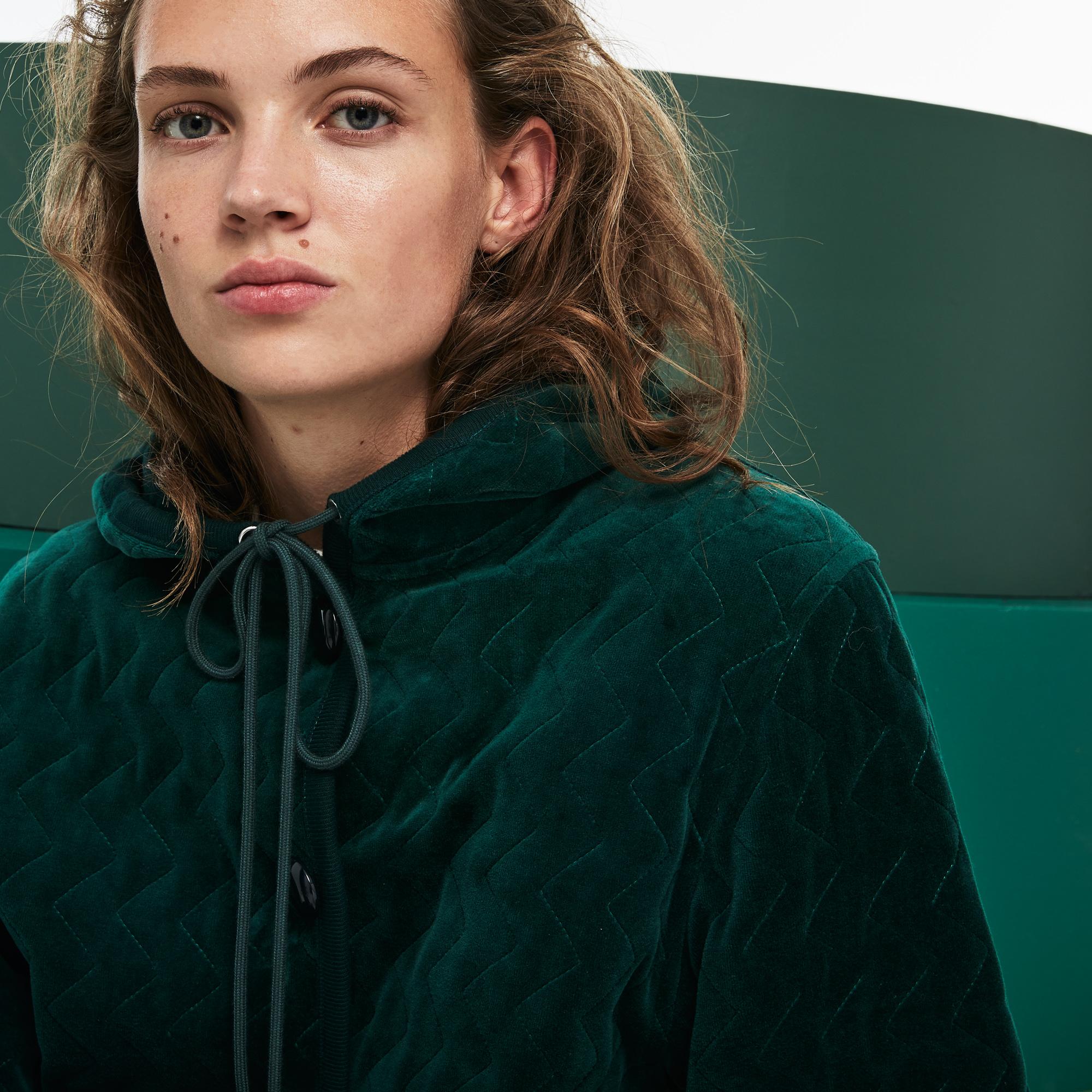 женский пиджак lacoste, зеленый